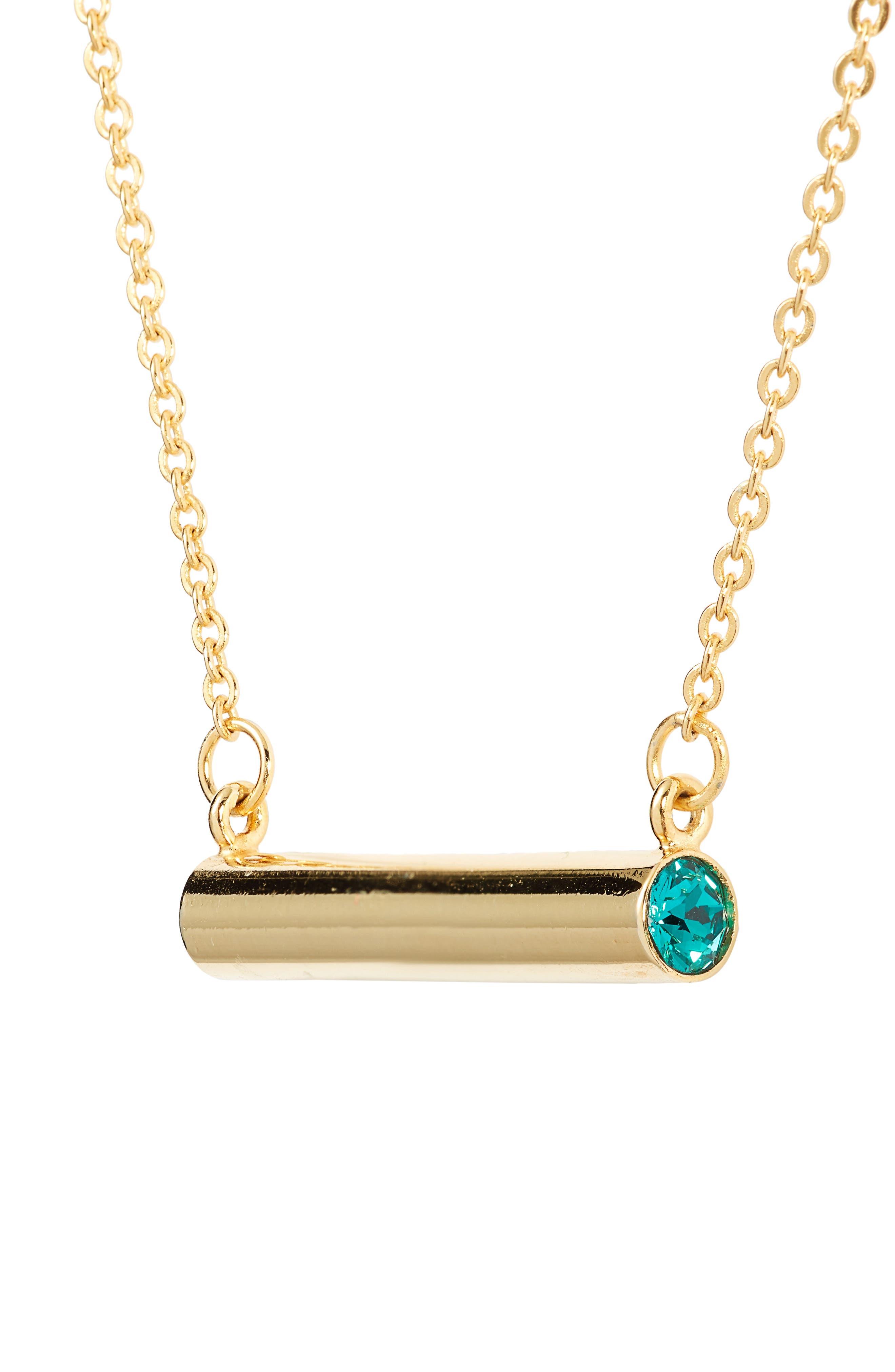 December Crystal Bar Pendant Necklace,                             Alternate thumbnail 6, color,