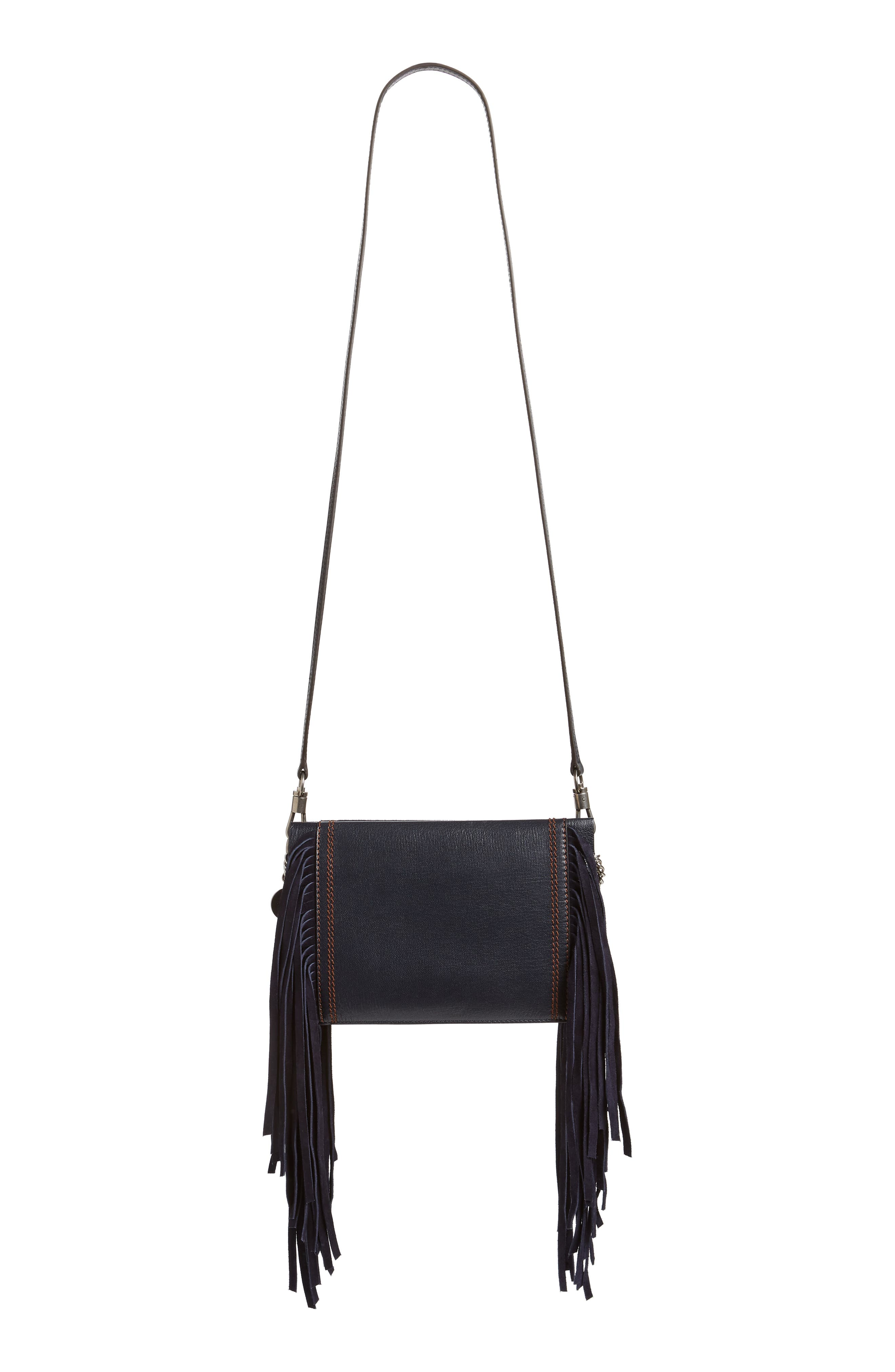 Cross 3 Fringe Leather Crossbody Bag,                             Alternate thumbnail 4, color,                             401