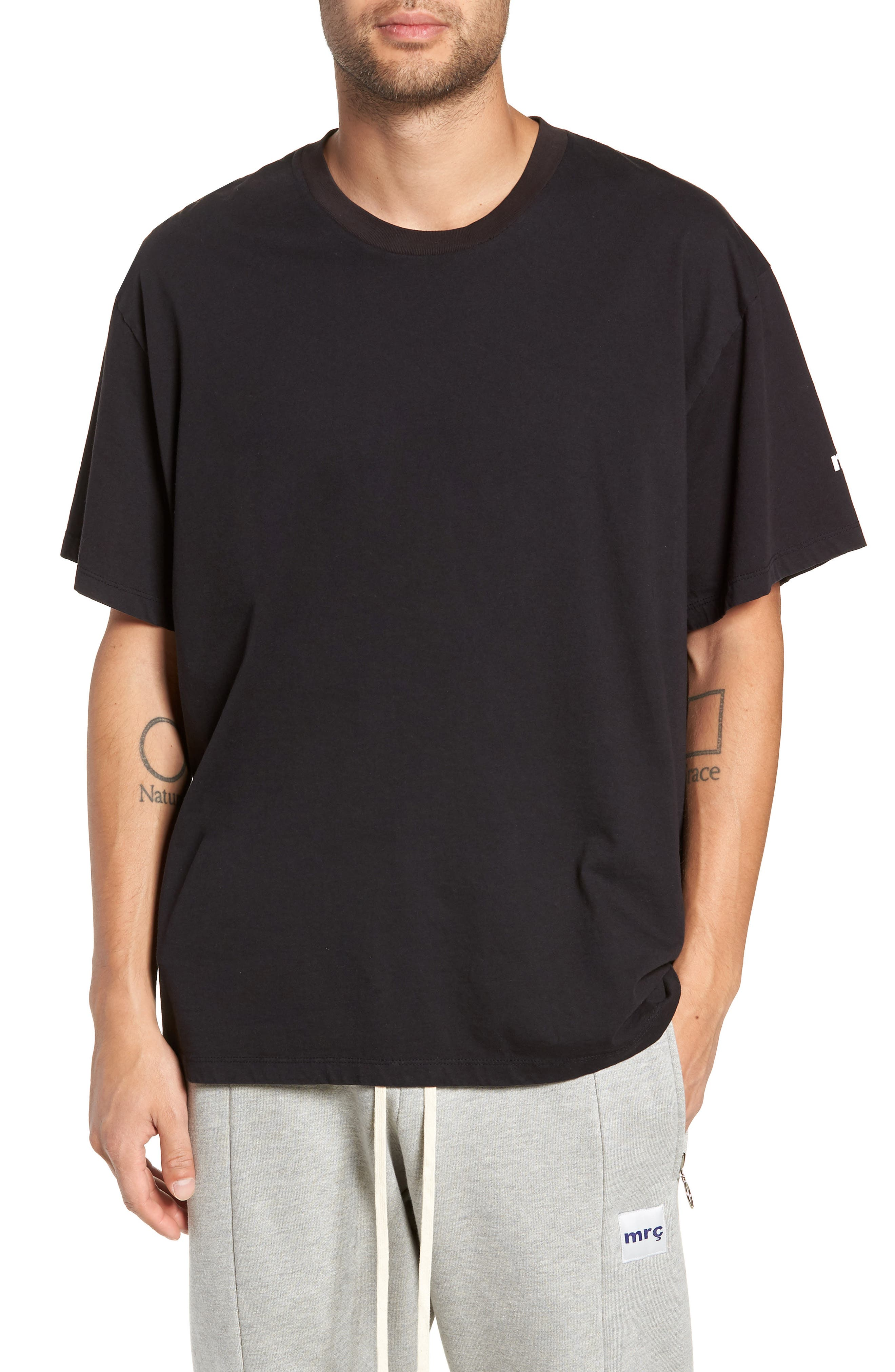 MR. COMPLETELY Same Old Madness Oversize T-Shirt in Black