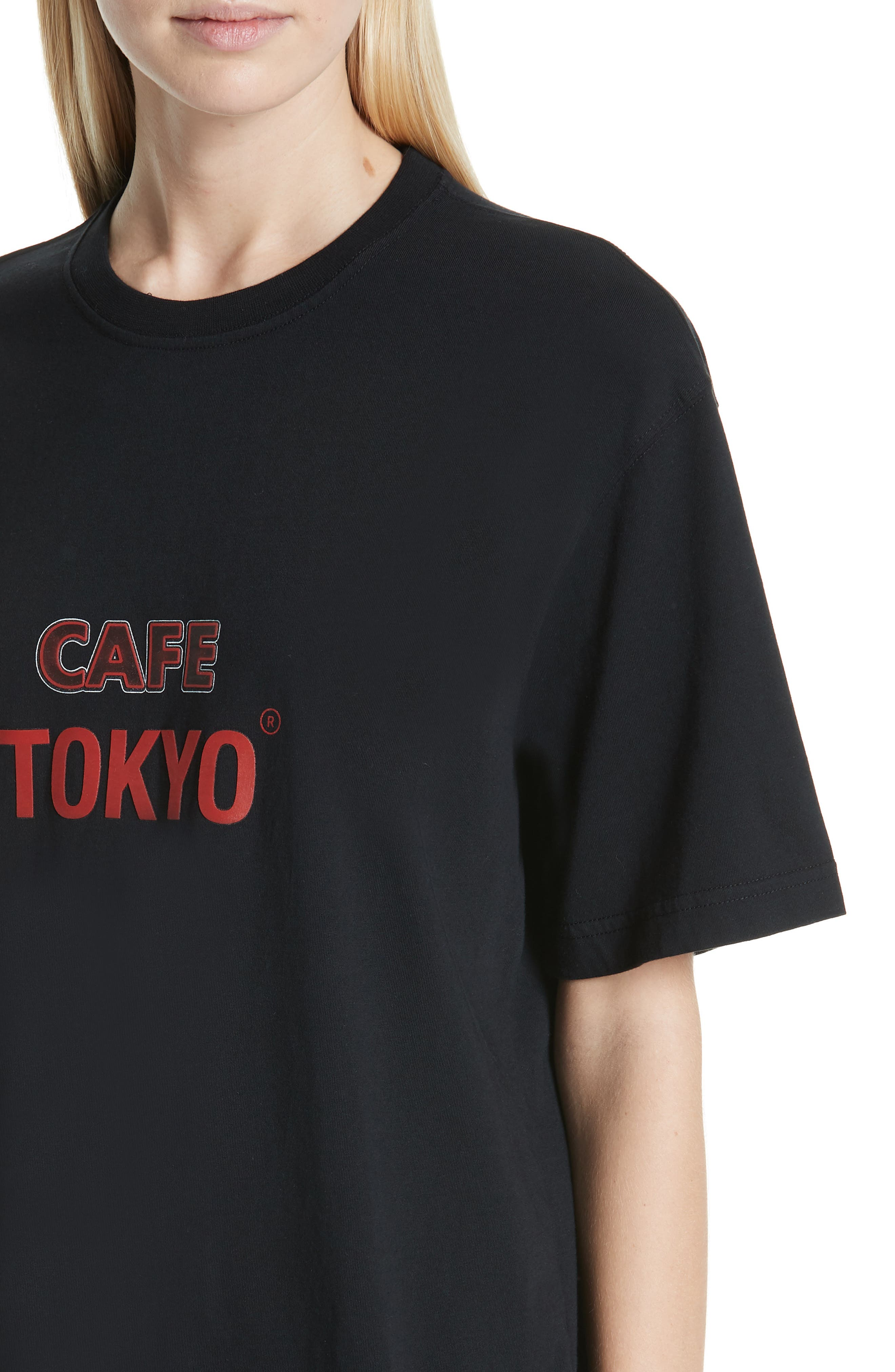 Tokyo Reykjavik Tee,                             Alternate thumbnail 4, color,                             BLACK