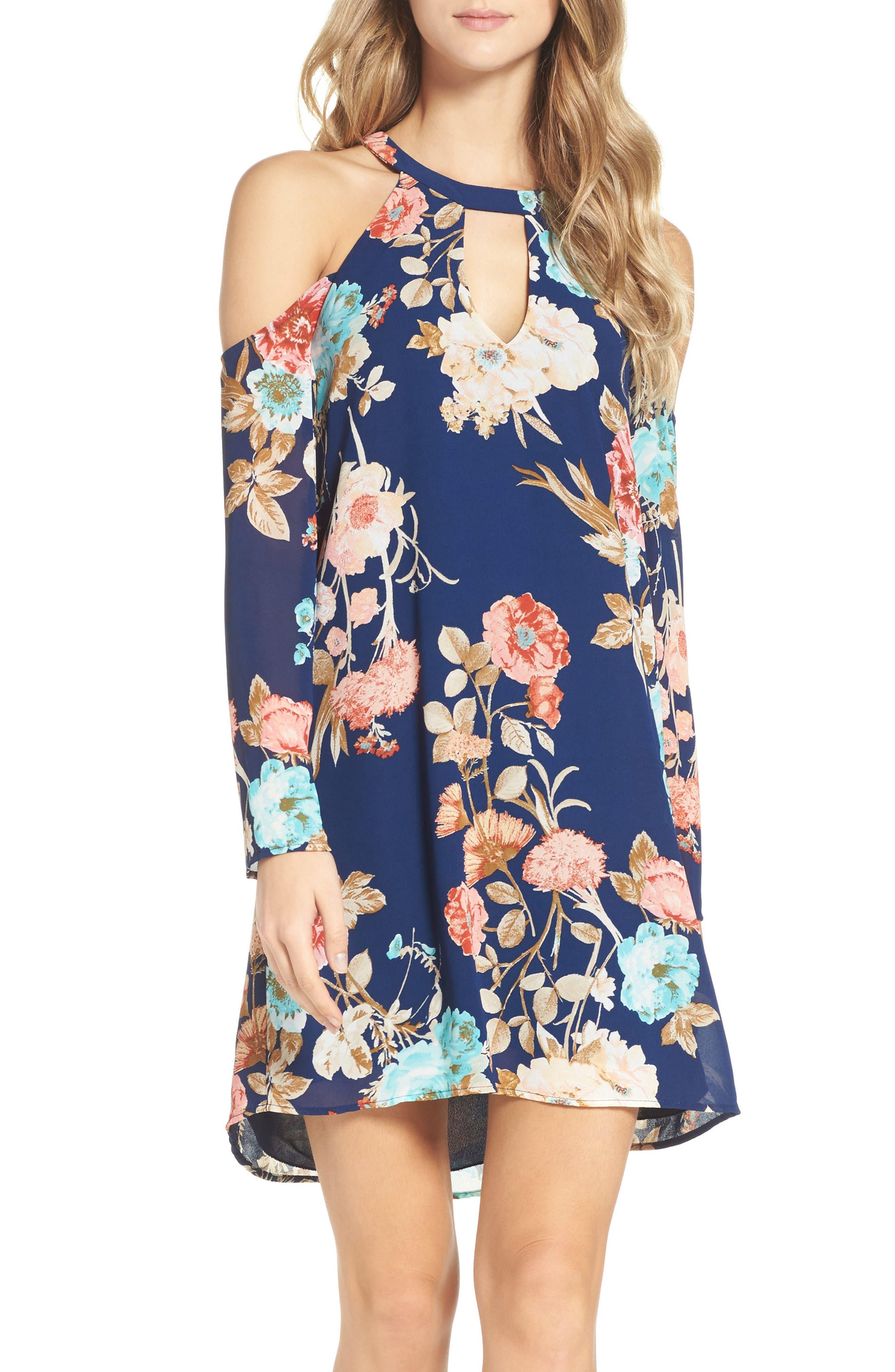 Cold Shoulder Dress,                         Main,                         color, 473