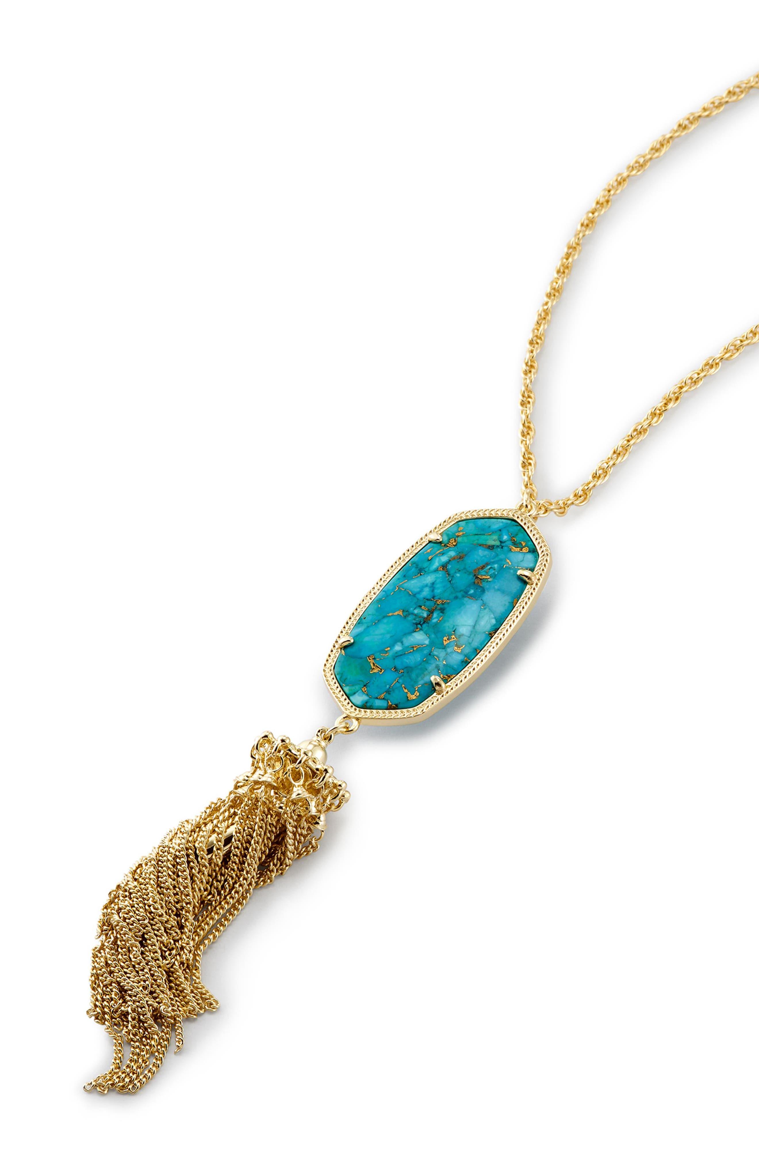 Rayne Stone Tassel Pendant Necklace,                             Alternate thumbnail 350, color,