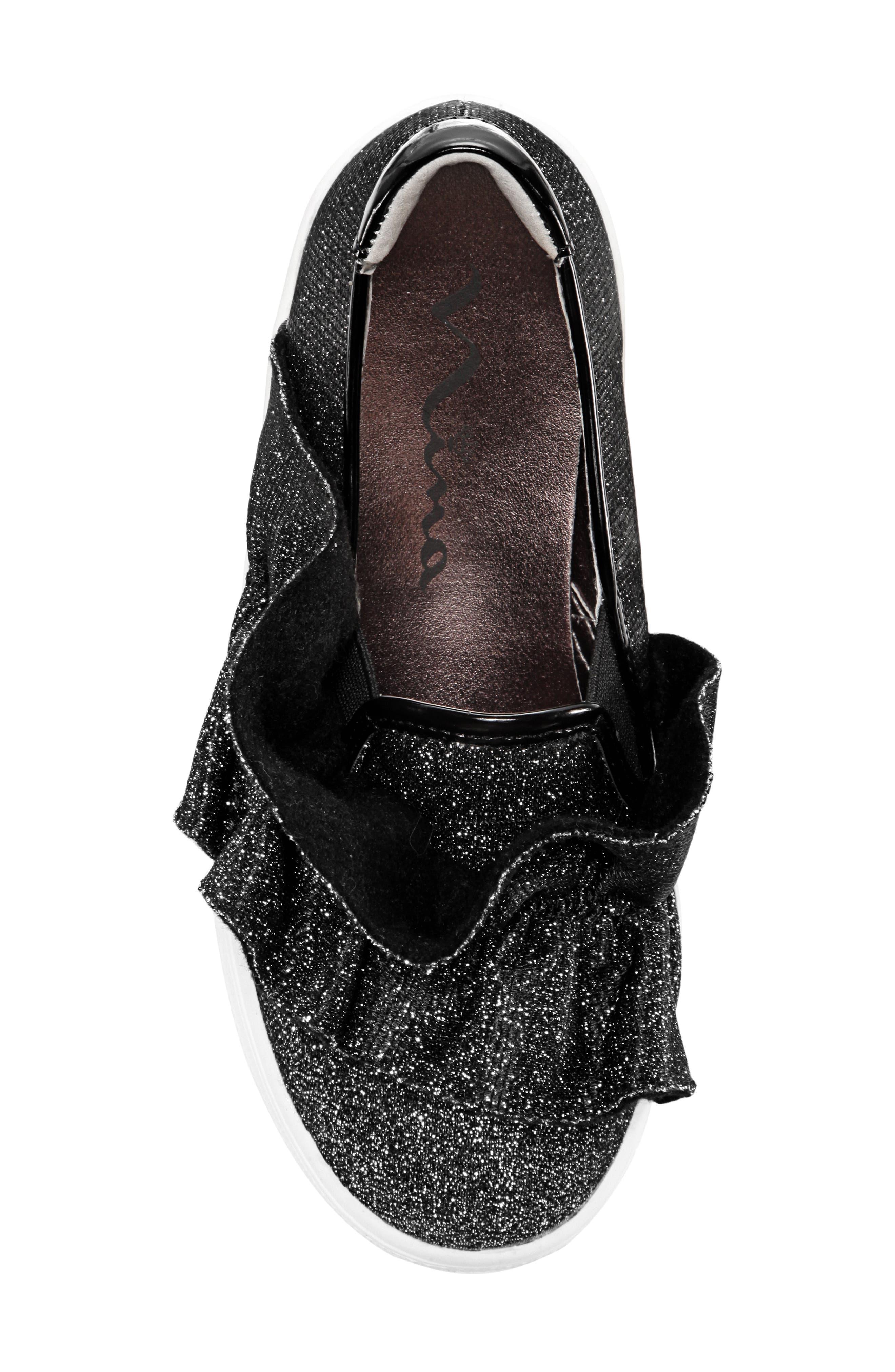 Ivani Slip-On Sneaker,                             Alternate thumbnail 5, color,                             BLACK SPARKLE FABRIC