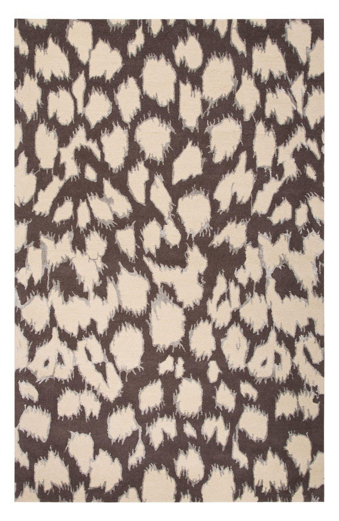 'gramercy - animal print' wool & silk rug,                             Main thumbnail 2, color,