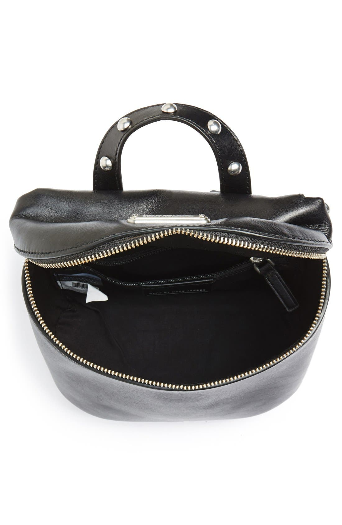 MARC BY MARC JACOBS 'Canteen Rivets' Crossbody Bag,                             Alternate thumbnail 6, color,                             001