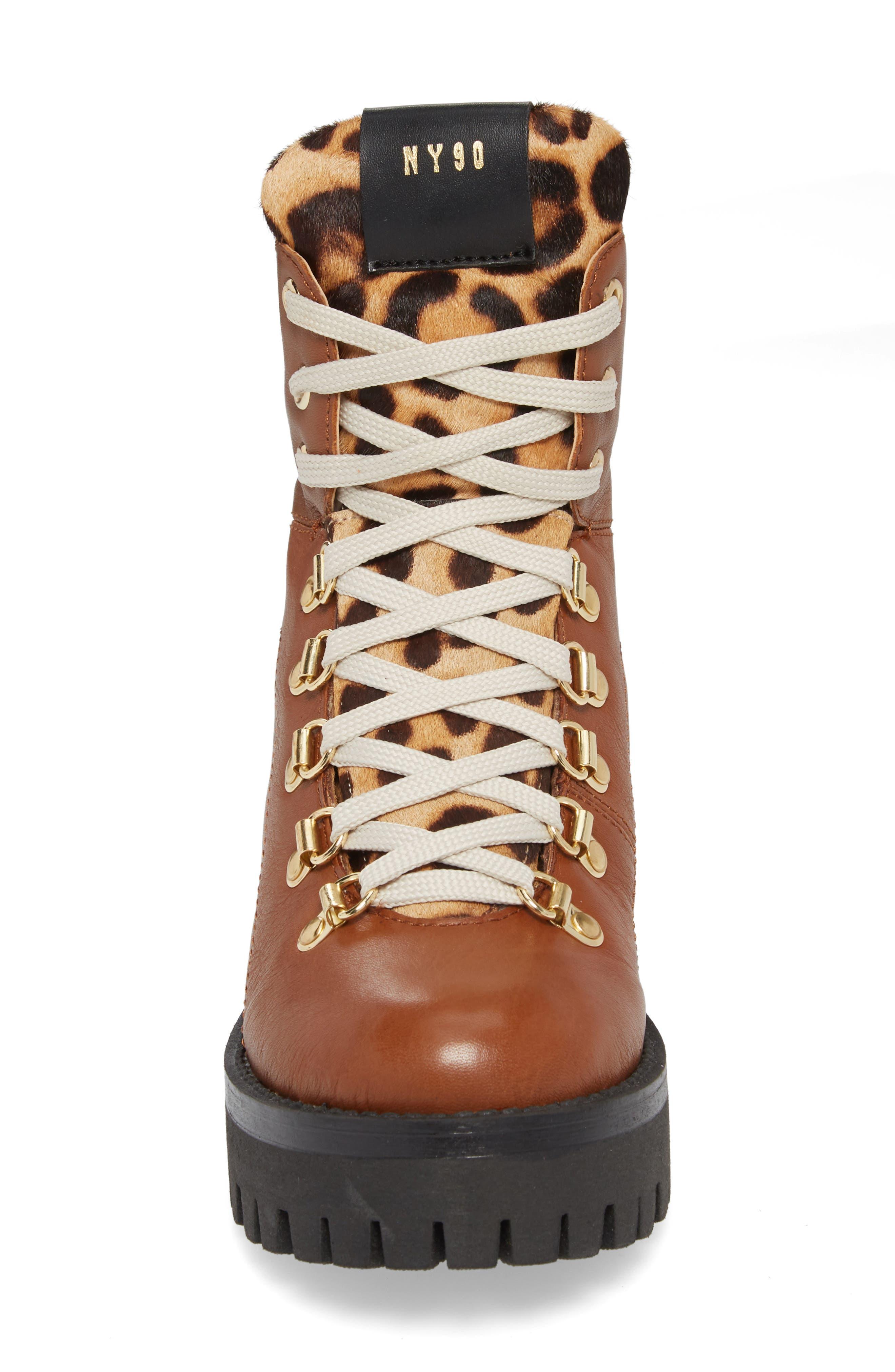 STEVE MADDEN,                             Boom Hiker Boot with Genuine Calf Hair,                             Alternate thumbnail 4, color,                             200