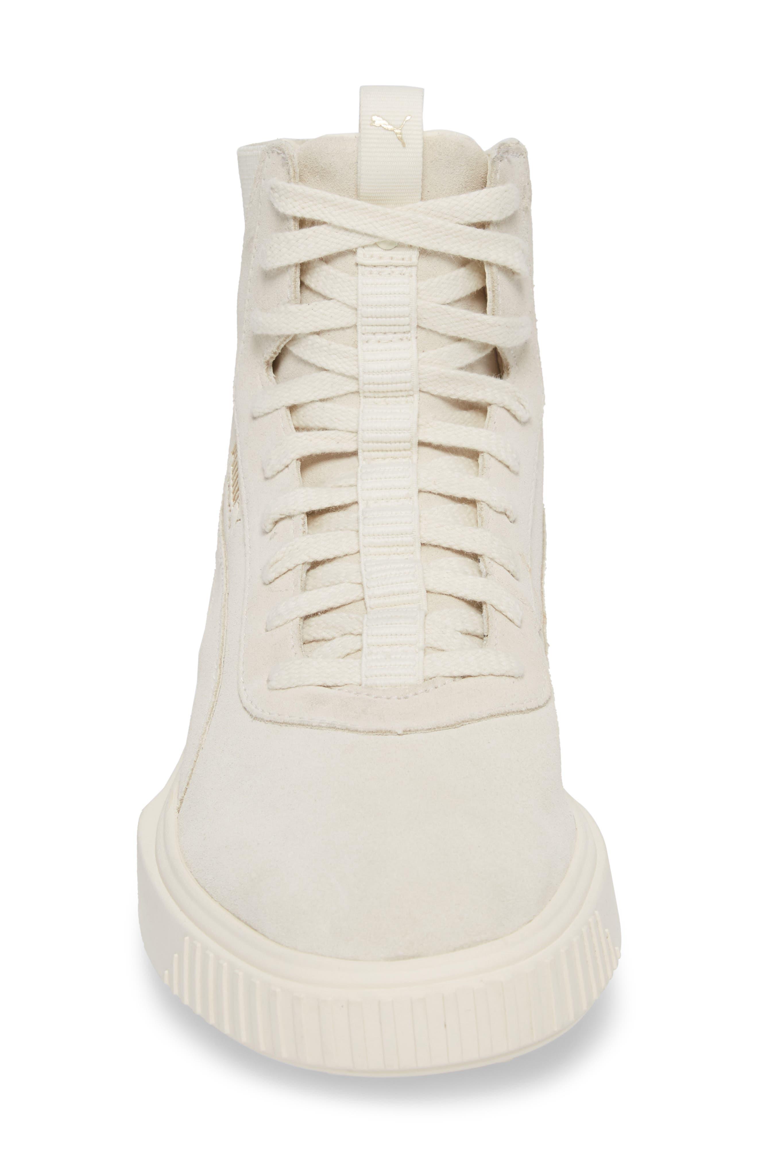 Breaker High Top Sneaker,                             Alternate thumbnail 4, color,                             WHITE