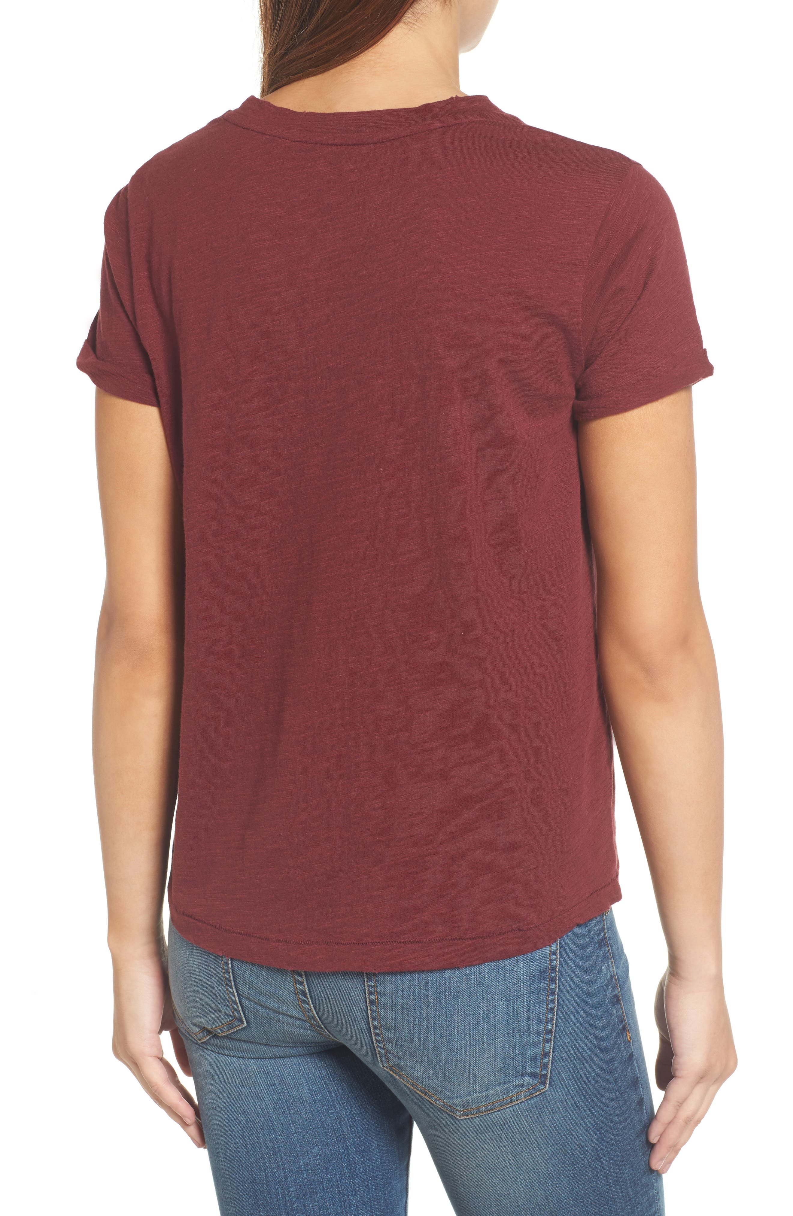 Floral Embroidered Tee,                             Alternate thumbnail 2, color,                             930