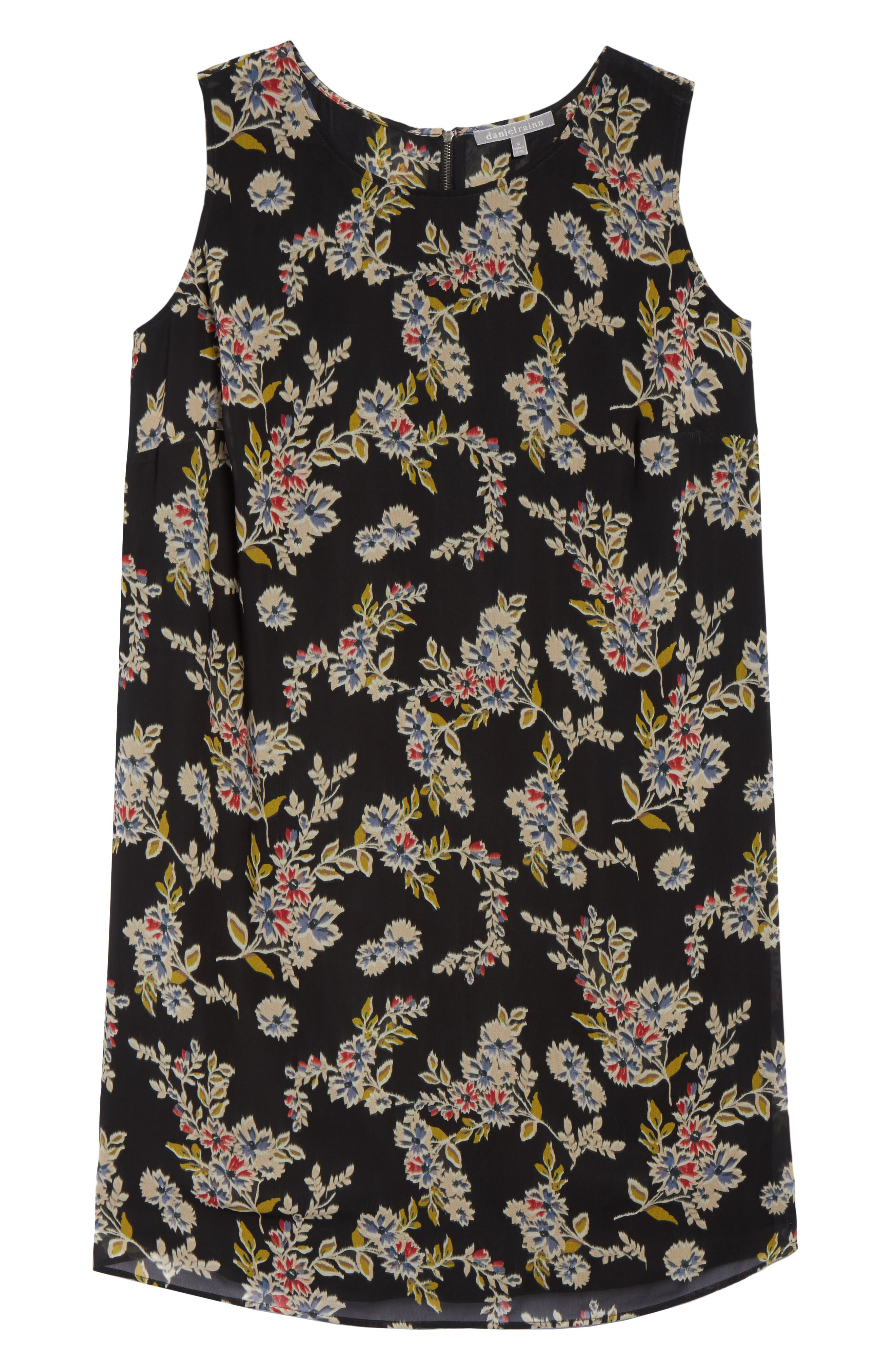 Pleated Back Dress,                             Alternate thumbnail 6, color,                             015