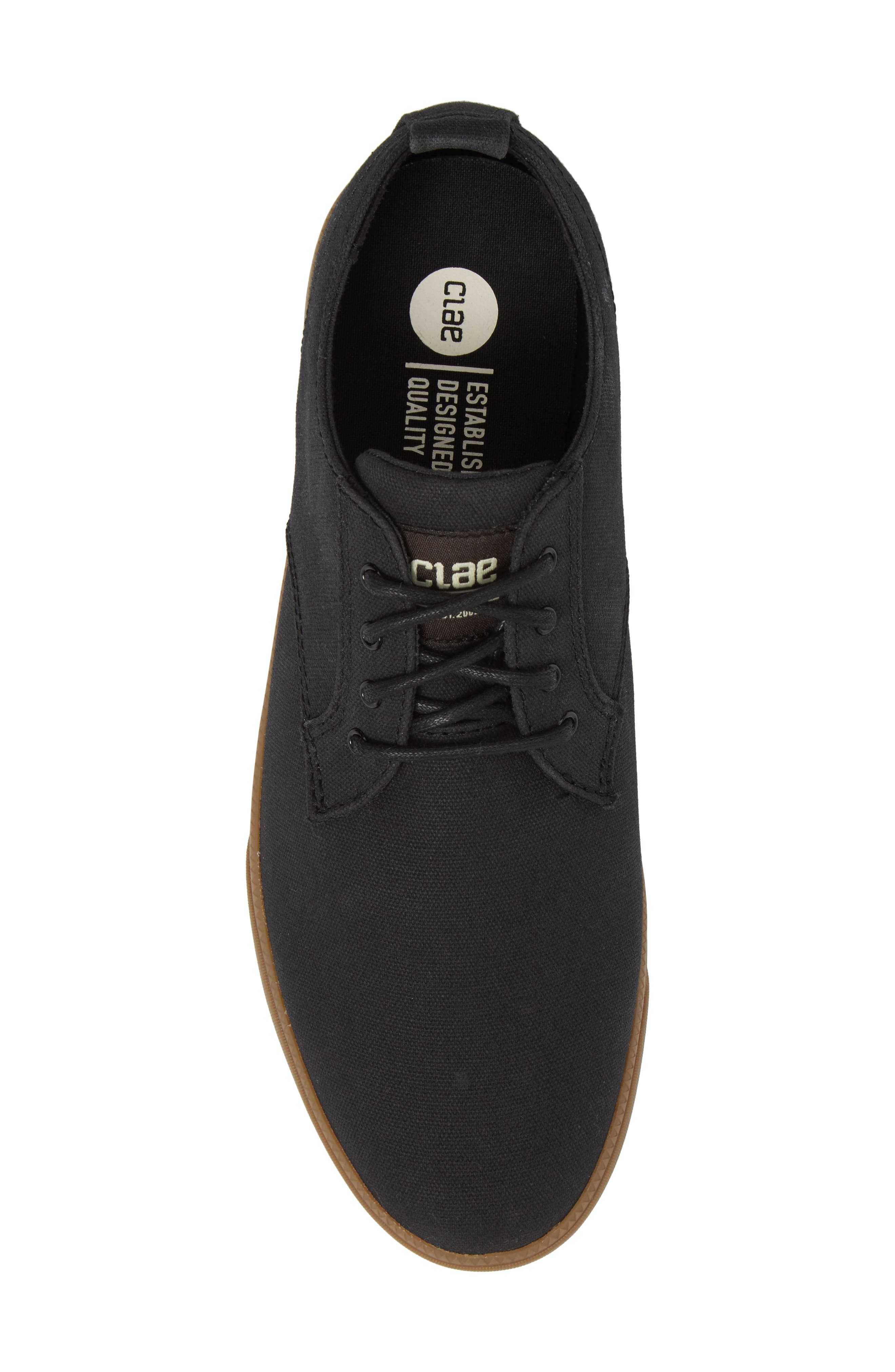 CLAE,                             Ellington Sneaker,                             Alternate thumbnail 5, color,                             BLACK WAXED CANVAS