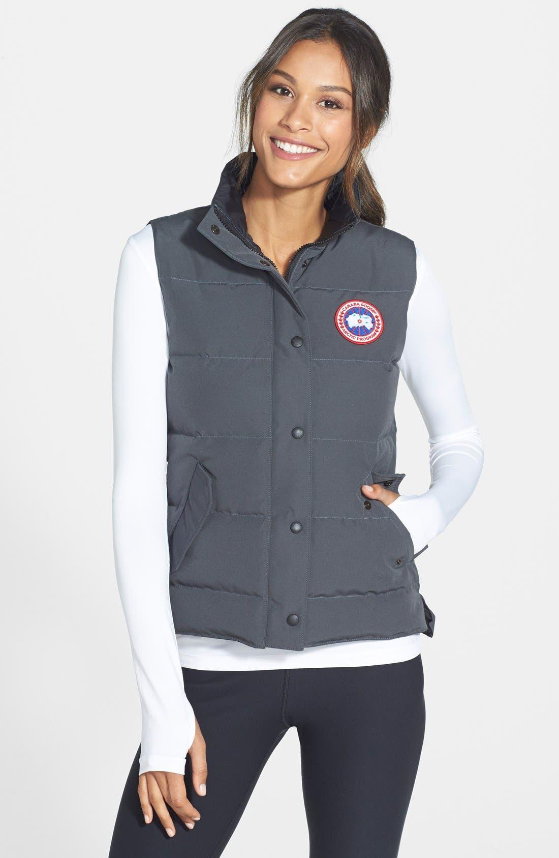 'Freestyle' Slim Fit Down Vest,                         Main,                         color, GRAPHITE
