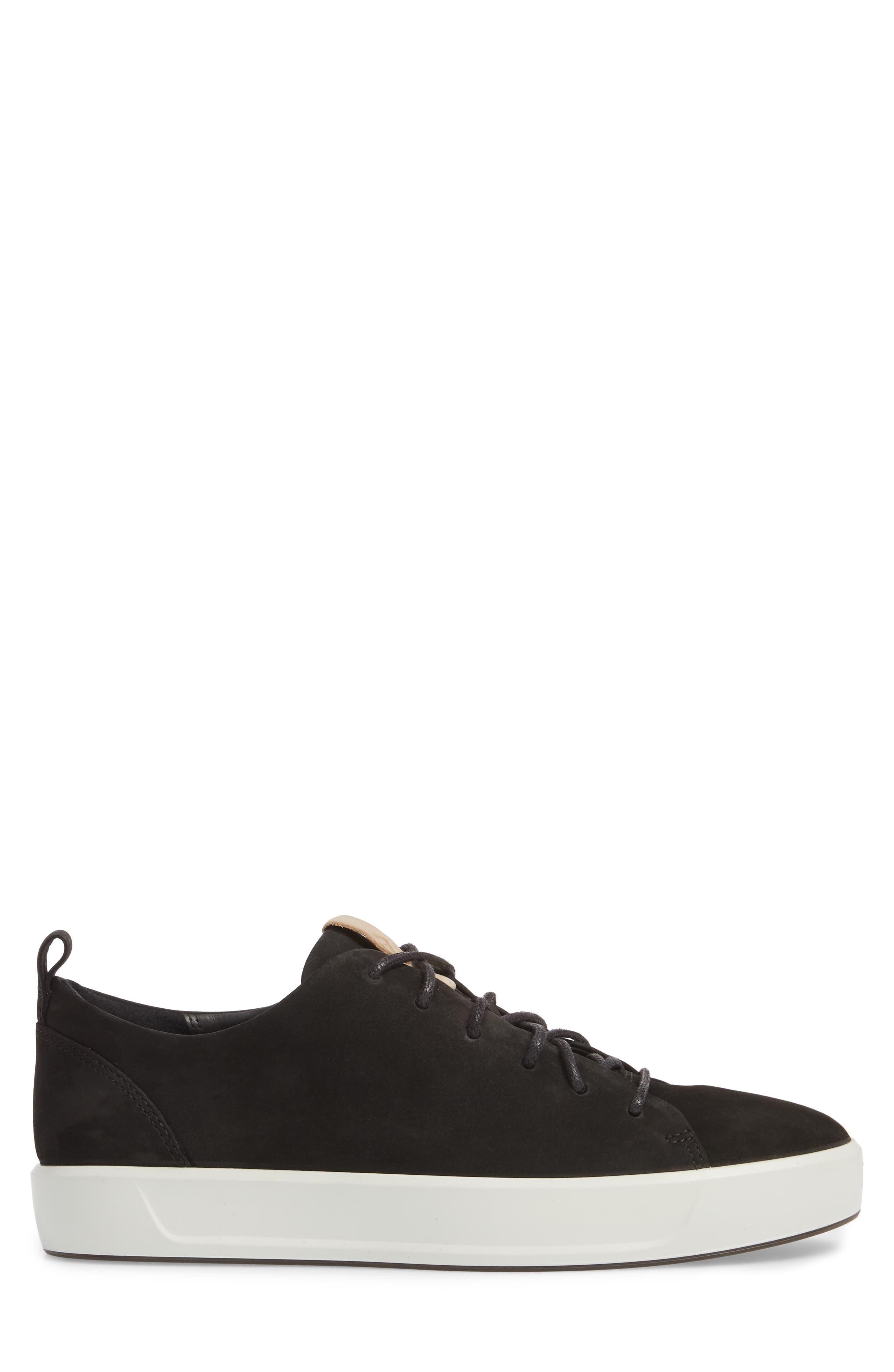 Soft 8 Sneaker,                             Alternate thumbnail 3, color,                             BLACK POWDER LEATHER