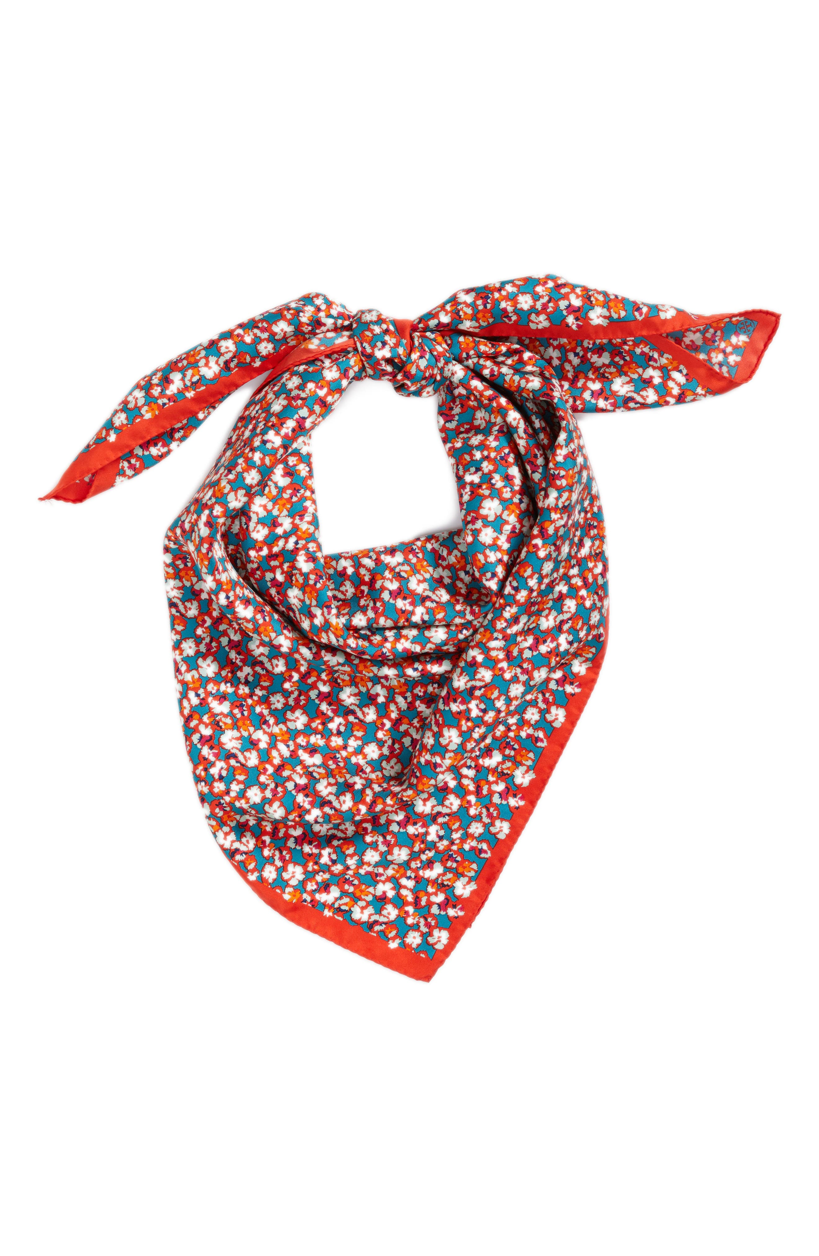 Carnation Silk Square Scarf,                             Alternate thumbnail 2, color,                             600