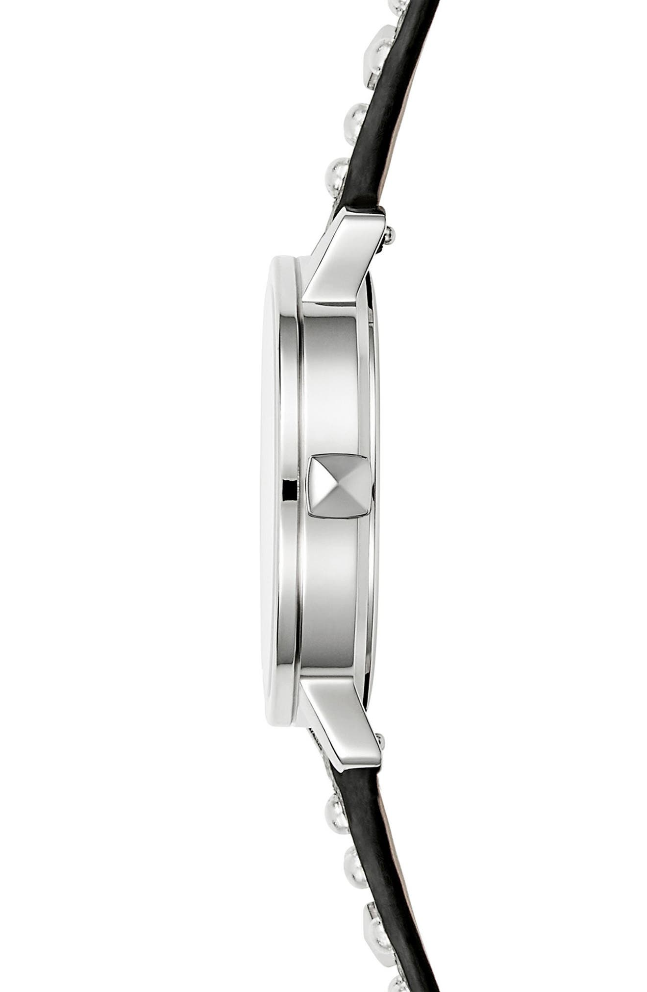 BFFL Studded Leather Strap Watch, 36mm,                             Alternate thumbnail 13, color,