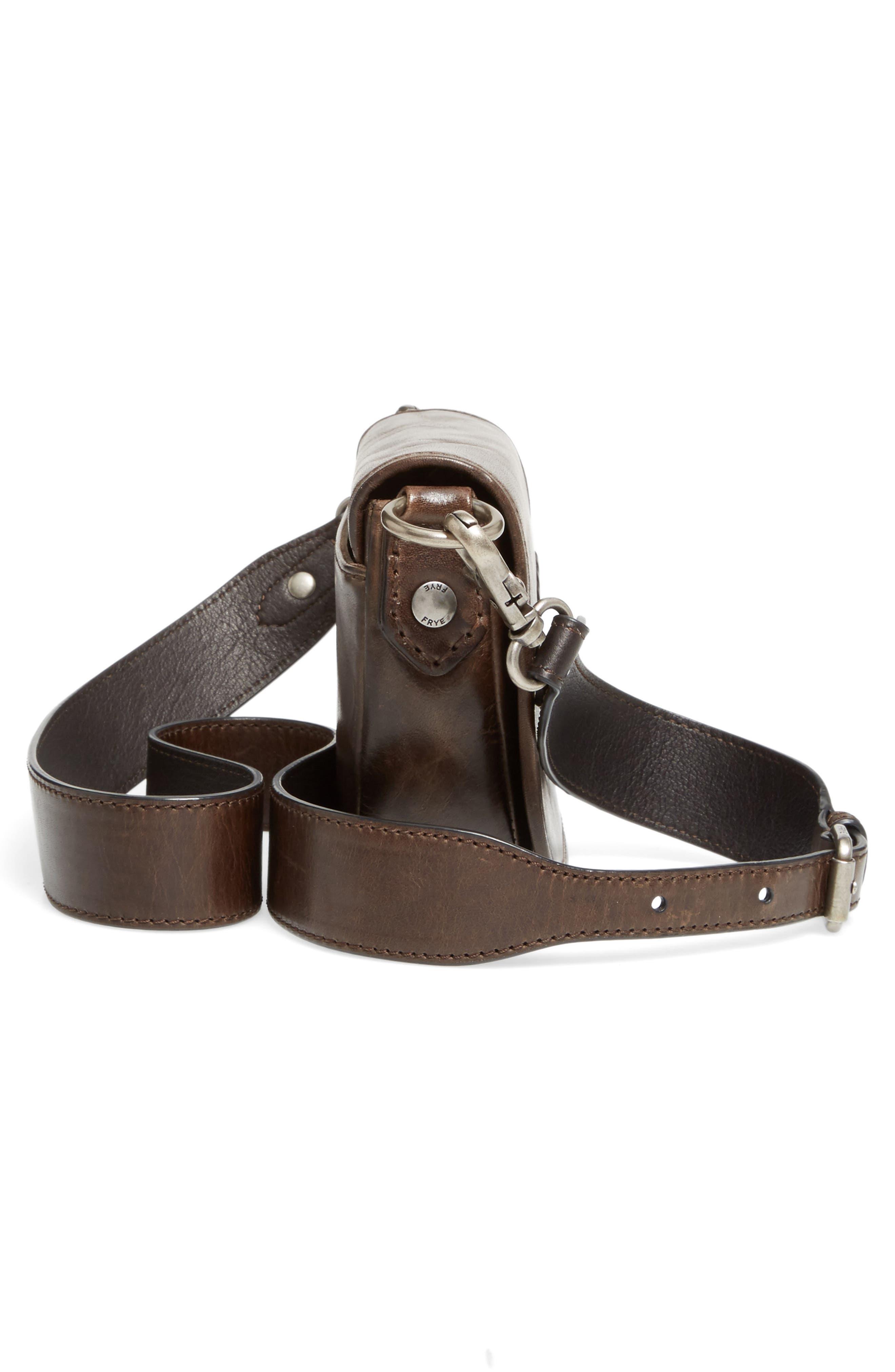 Mini Melissa Whipstitch Leather Saddle Bag,                             Alternate thumbnail 5, color,                             203