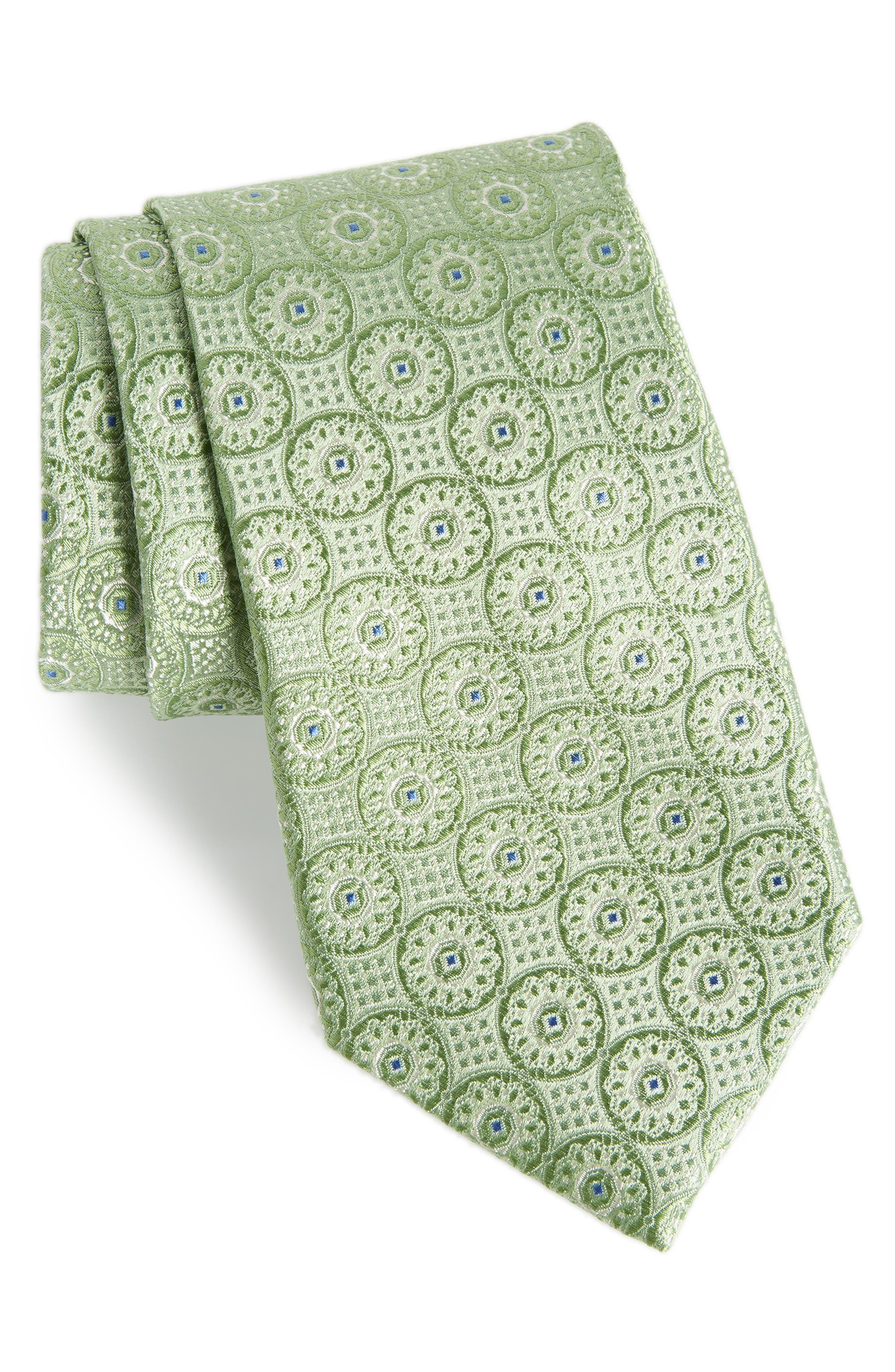 Kaymer Medallion Silk Tie,                         Main,                         color, 300