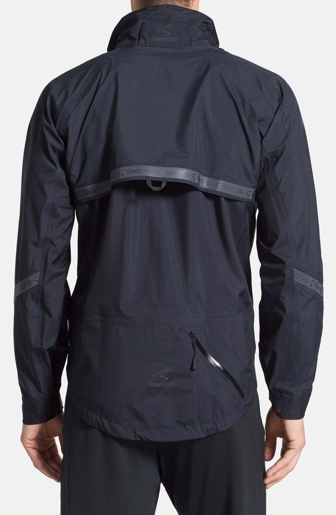 SHOWERS PASS,                             'Elite 2.1' Trim Fit Waterproof Hooded Jacket,                             Alternate thumbnail 4, color,                             001