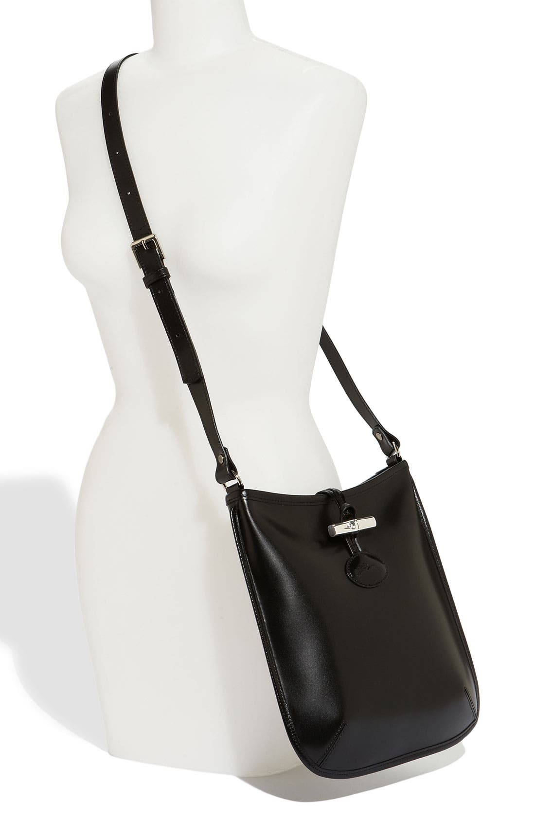 'Roseau' Crossbody Bag,                             Alternate thumbnail 4, color,                             001
