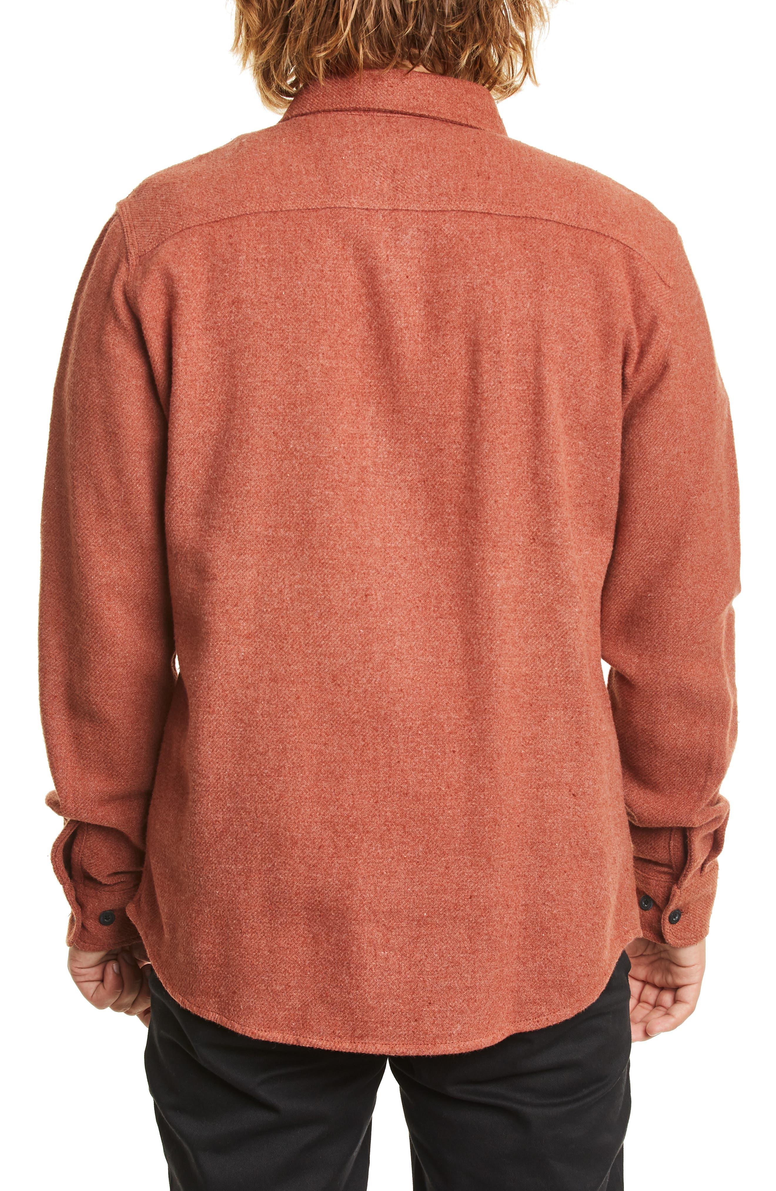 BRIXTON,                             Bowery Twill Work Shirt,                             Alternate thumbnail 2, color,                             CLAY