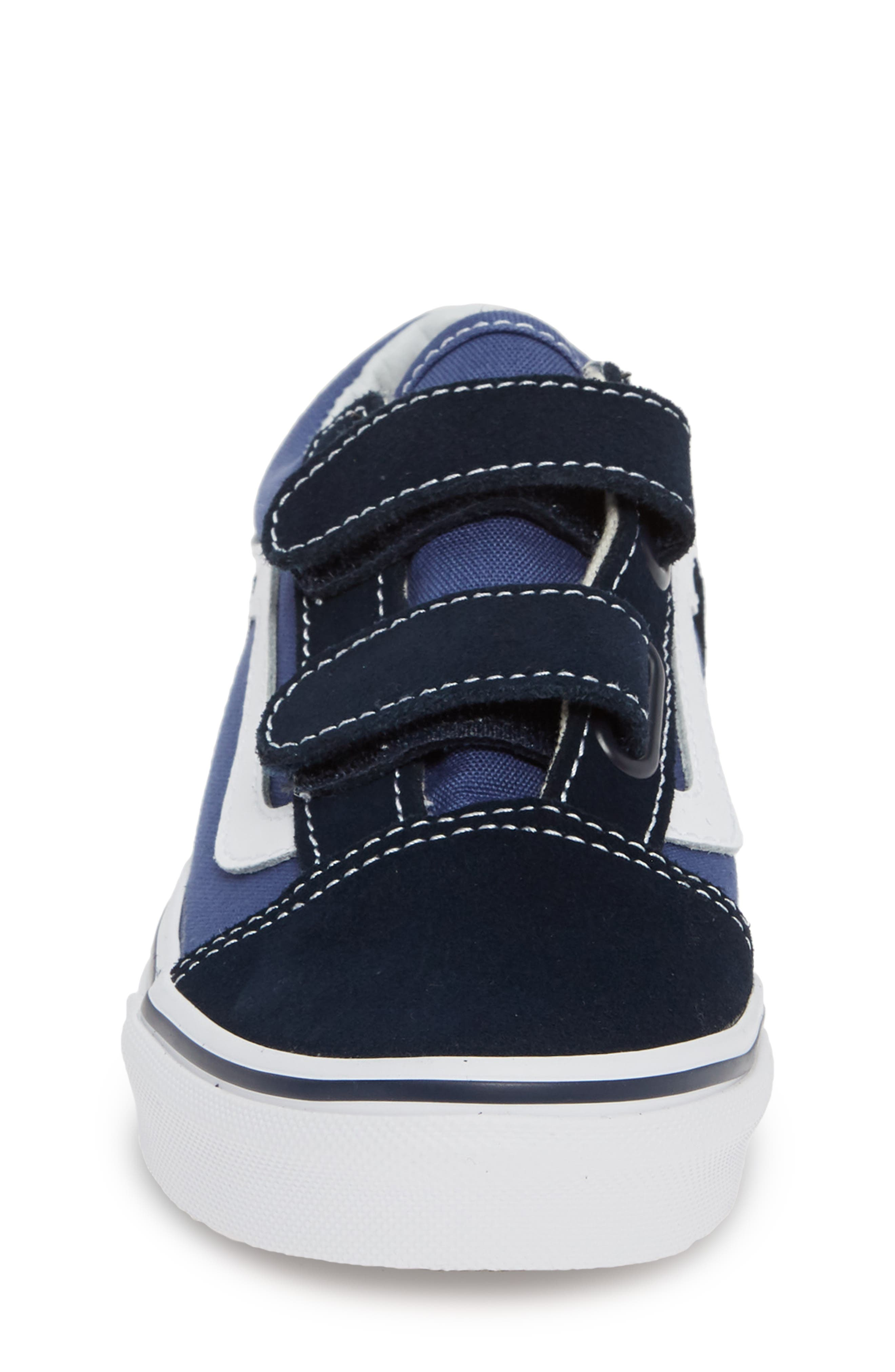 Old Skool V Sneaker,                             Alternate thumbnail 4, color,                             NAVY/ TRUE WHITE