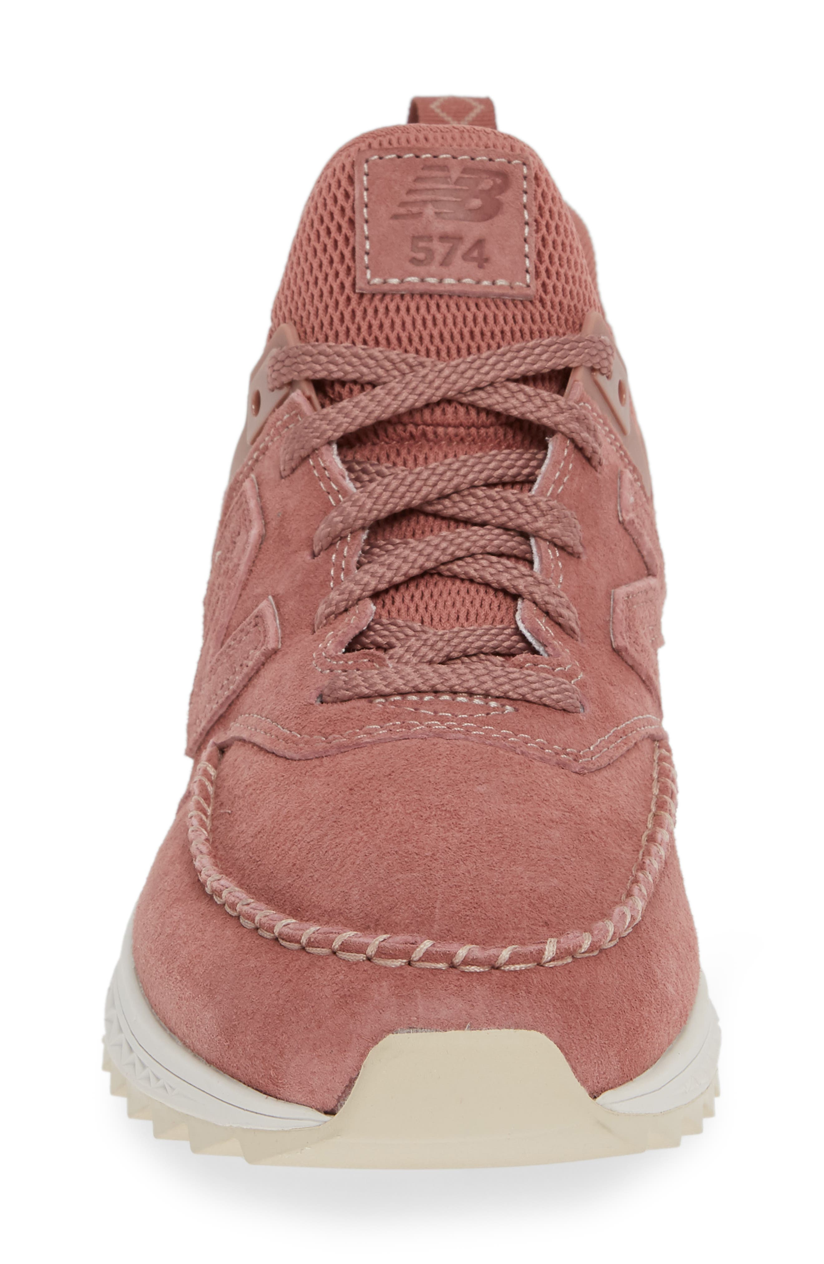 574 Sport Sneaker,                             Alternate thumbnail 4, color,                             DARK OXIDE SUEDE/ MESH
