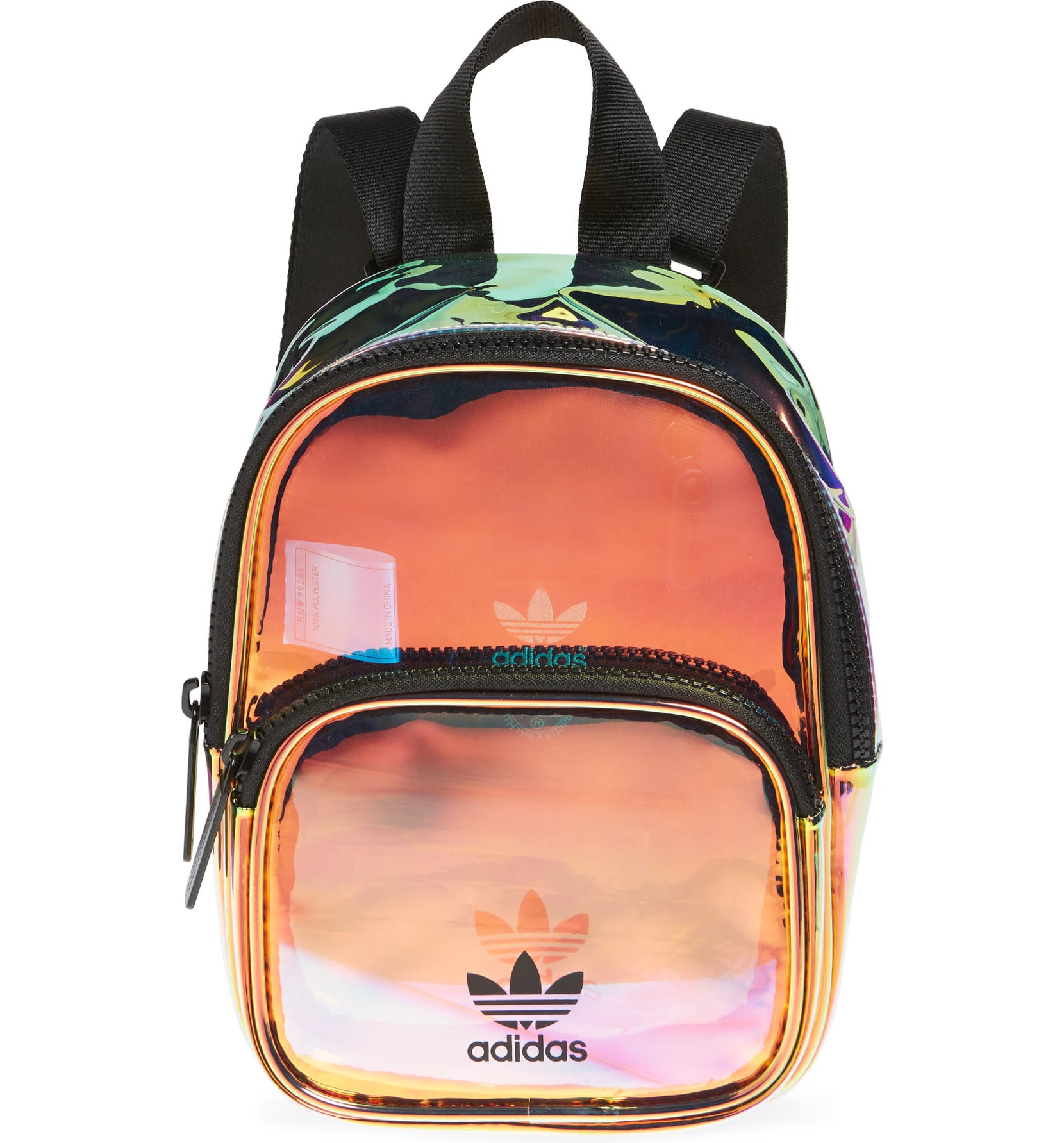 7d42ba052d adidas Ori Mini Holographic Clear Backpack