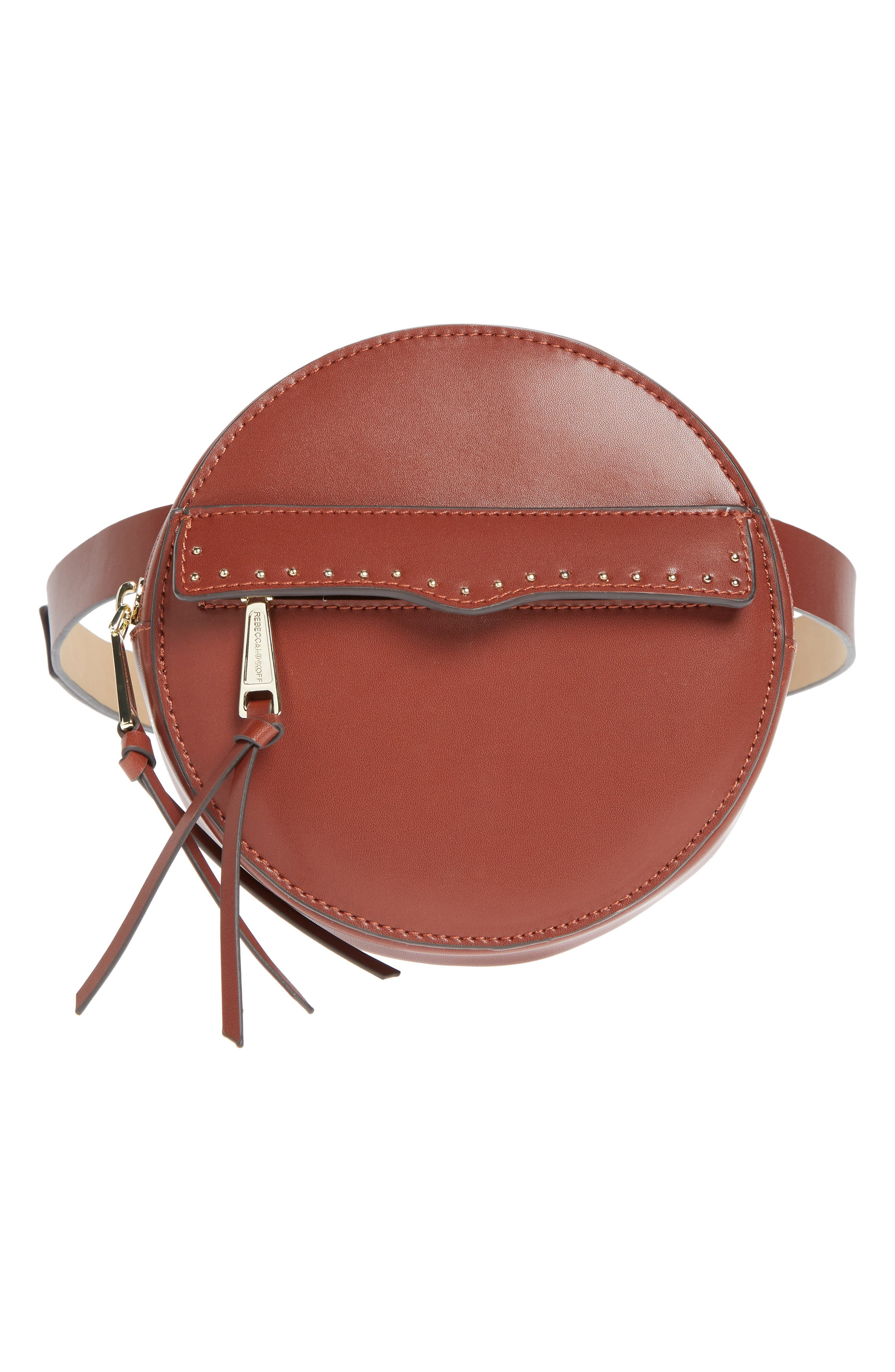 Lucy Leather Belt Bag, Main, color, LUGGAGE