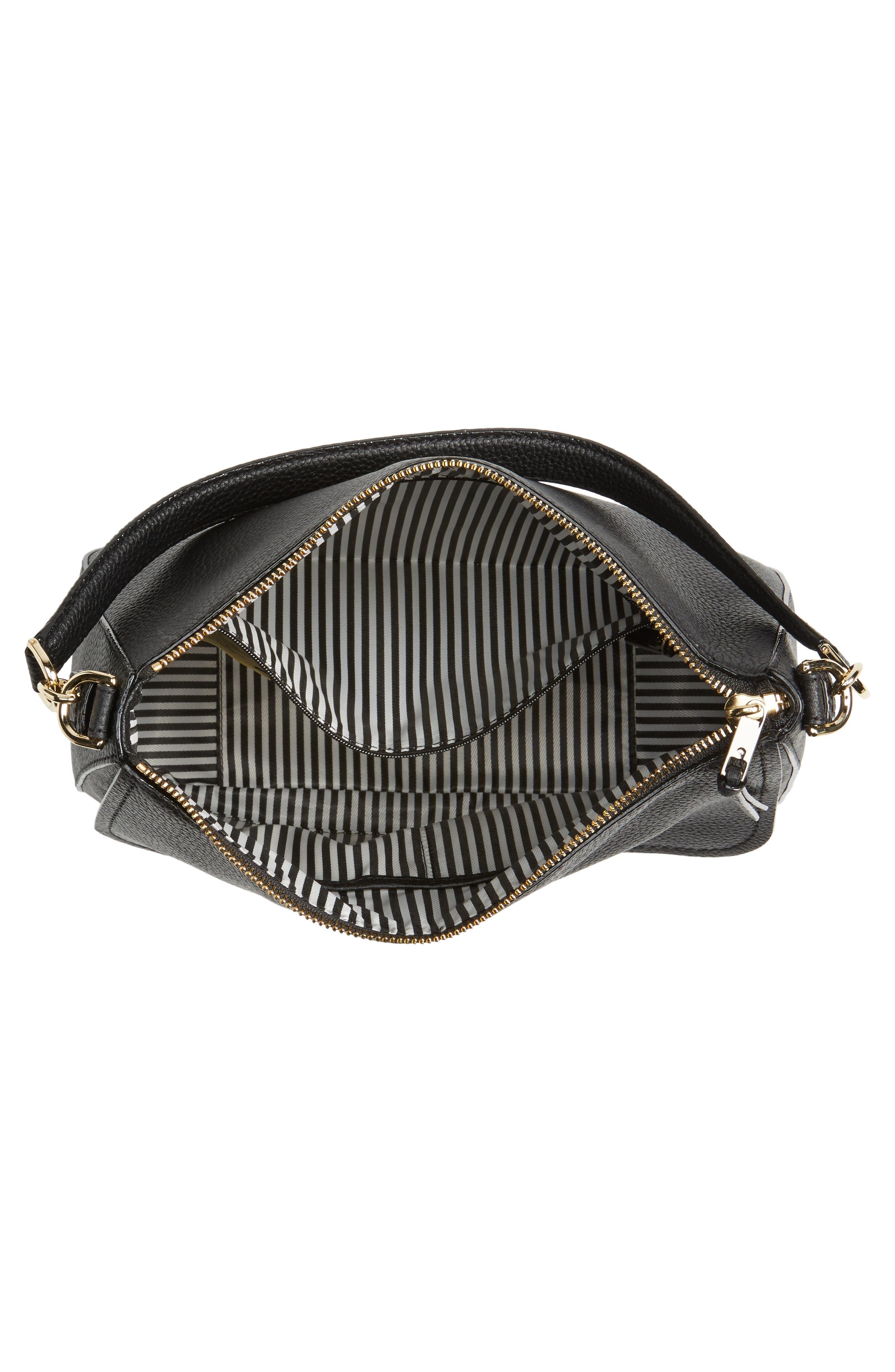 jackson street - colette leather satchel,                             Alternate thumbnail 4, color,                             BLACK