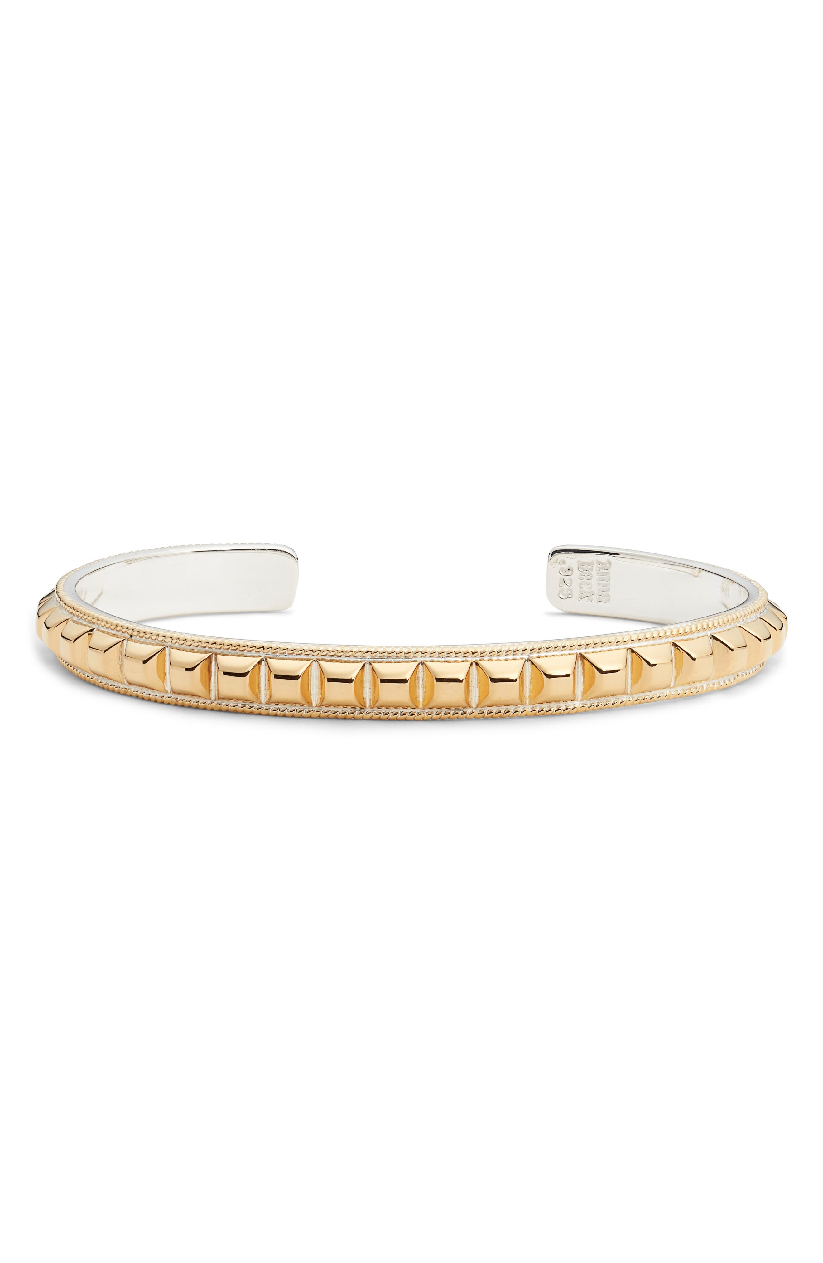 ANNA BECK Studded Skinny Cuff in Gold