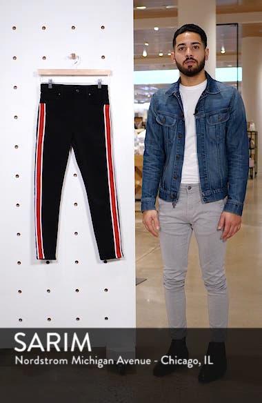 Jamie Airtex Stripe Moto Jeans, sales video thumbnail
