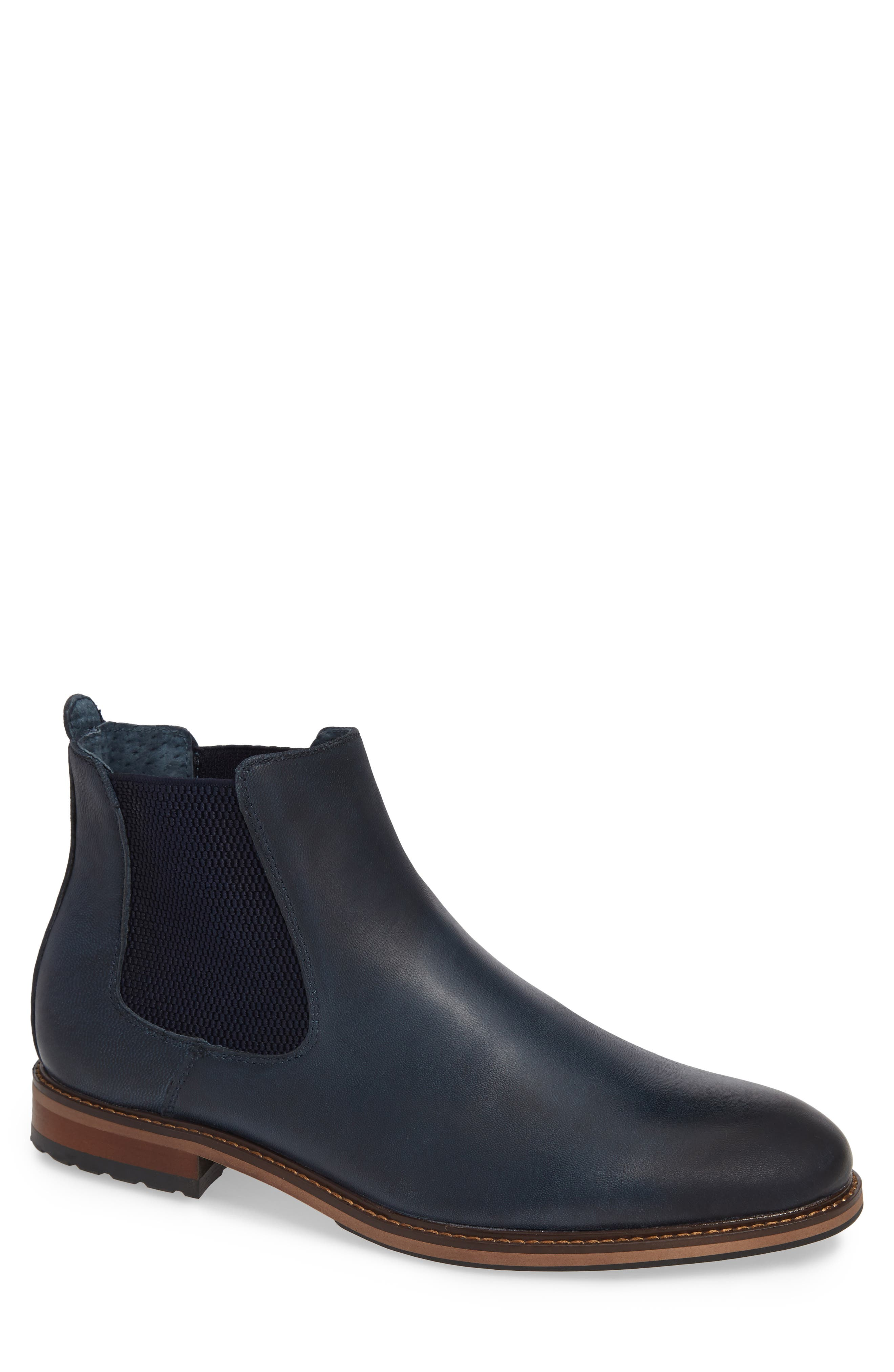 JUMP Steyer Chelsea Boot, Main, color, NAVY