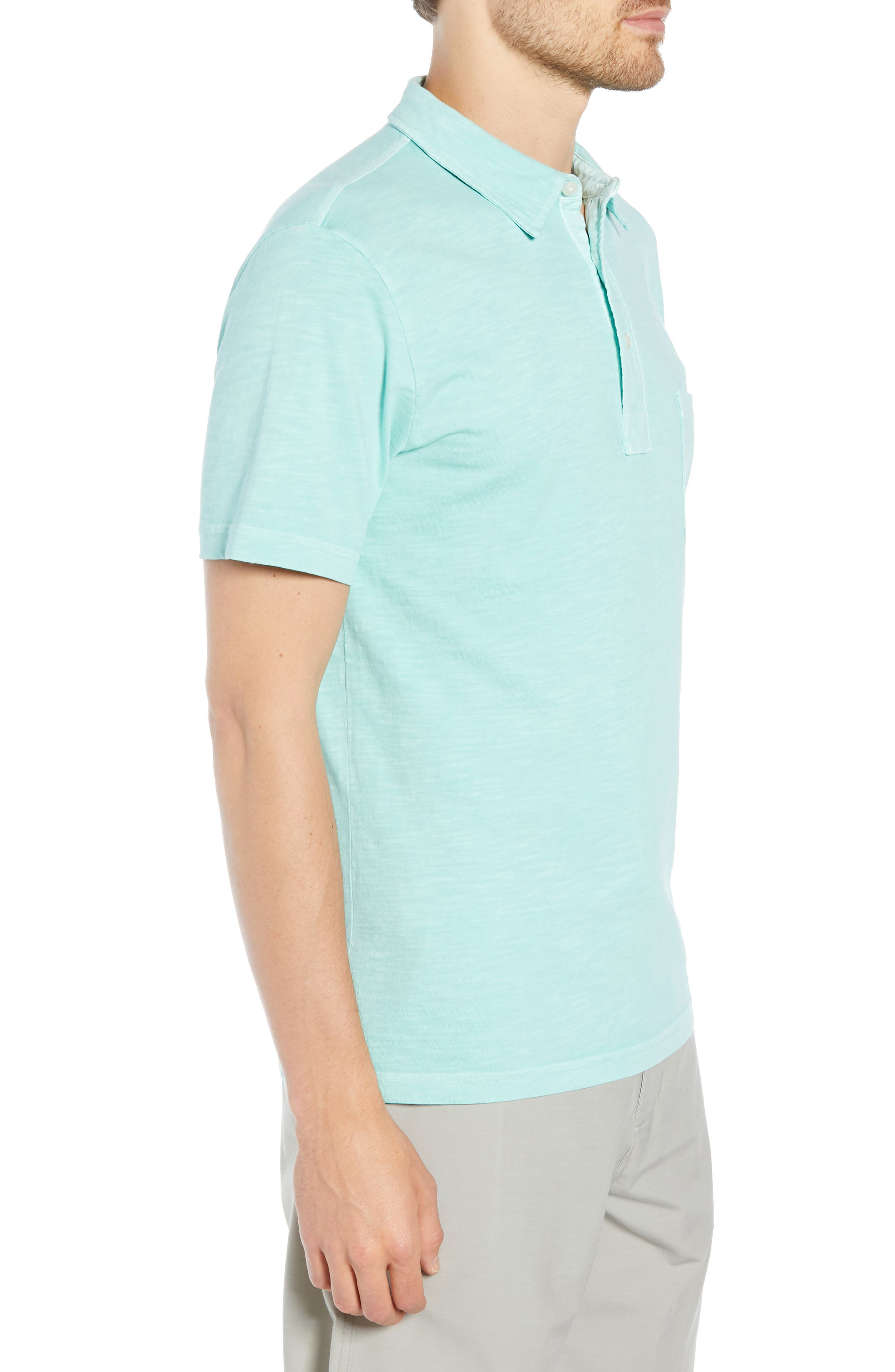 Sunwashed Polo,                             Alternate thumbnail 3, color,                             WATER BLUE