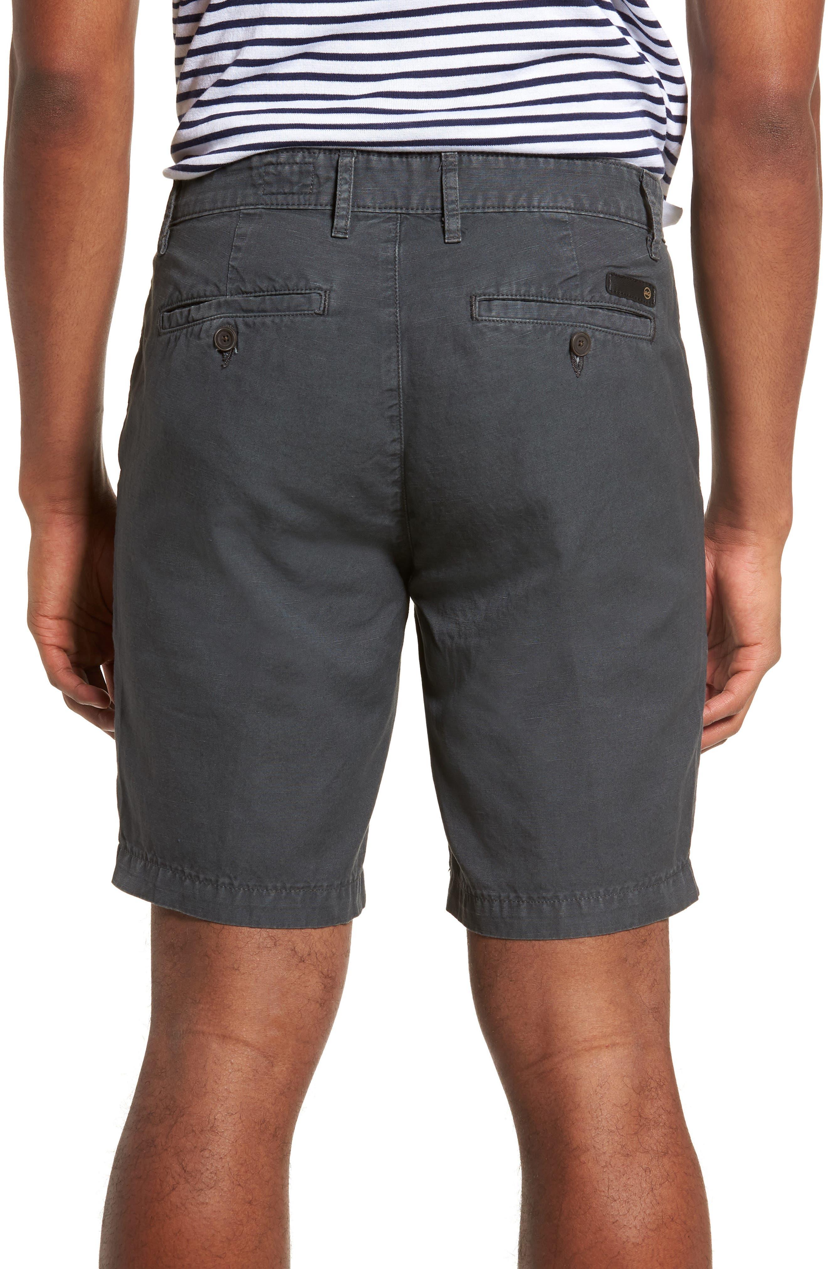 Wanderer Slim Fit Cotton & Linen Shorts,                             Alternate thumbnail 2, color,                             SULFUR SMOKE GREY