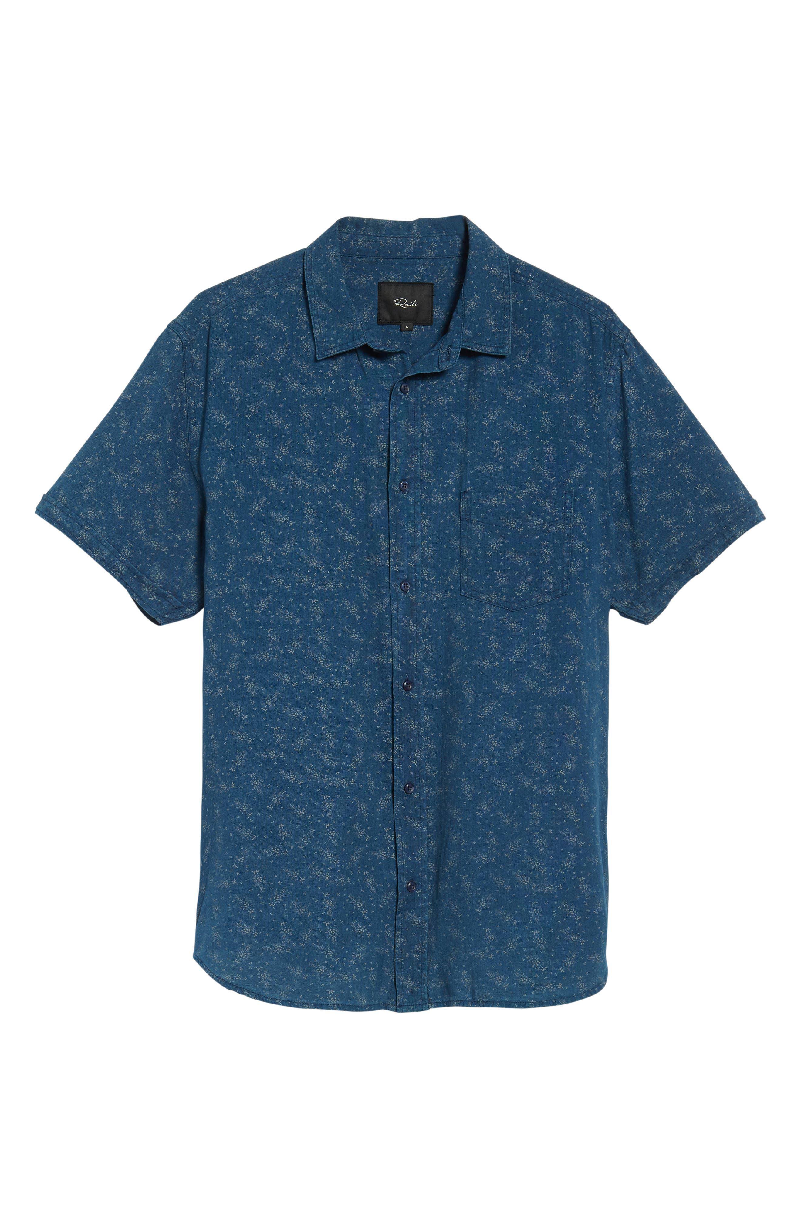 Carson Regular Fit Floral Print Sport Shirt,                             Alternate thumbnail 5, color,                             BISBEE PRINT