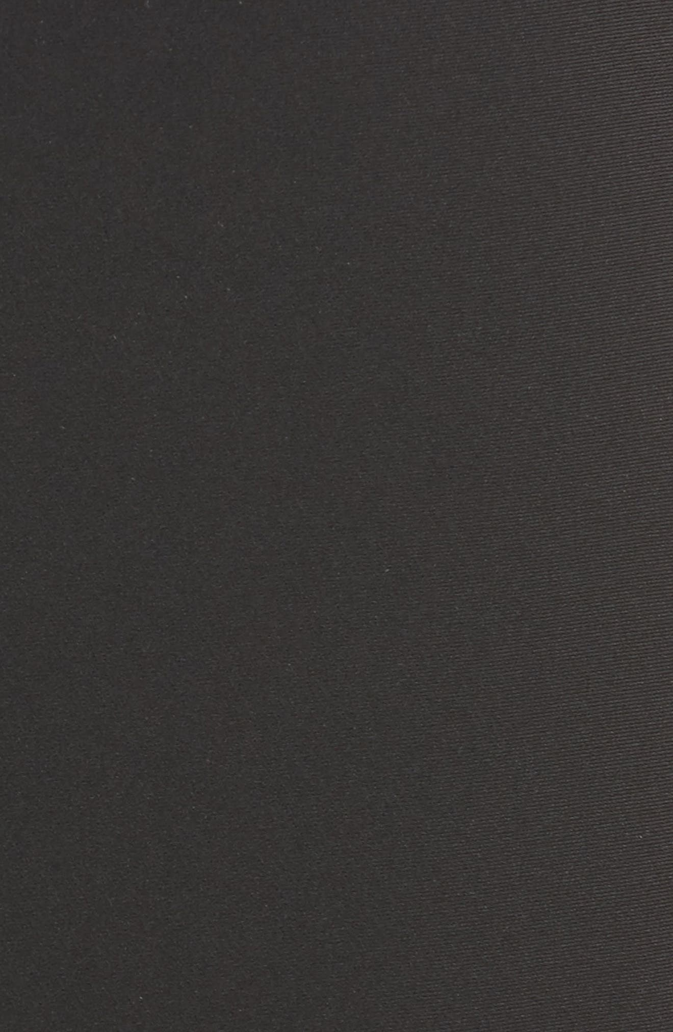Crepe Marocain Pencil Skirt,                             Alternate thumbnail 6, color,                             CAVIAR