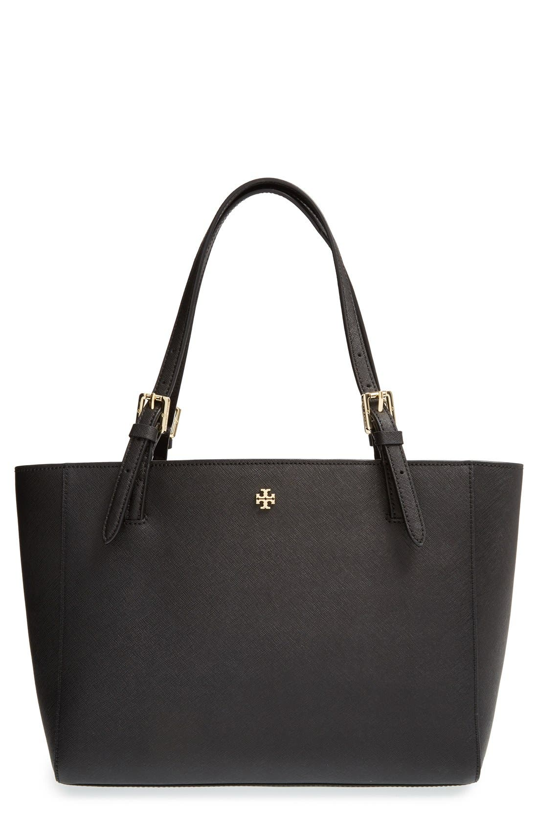 'Small York' Saffiano Leather Buckle Tote,                             Main thumbnail 3, color,