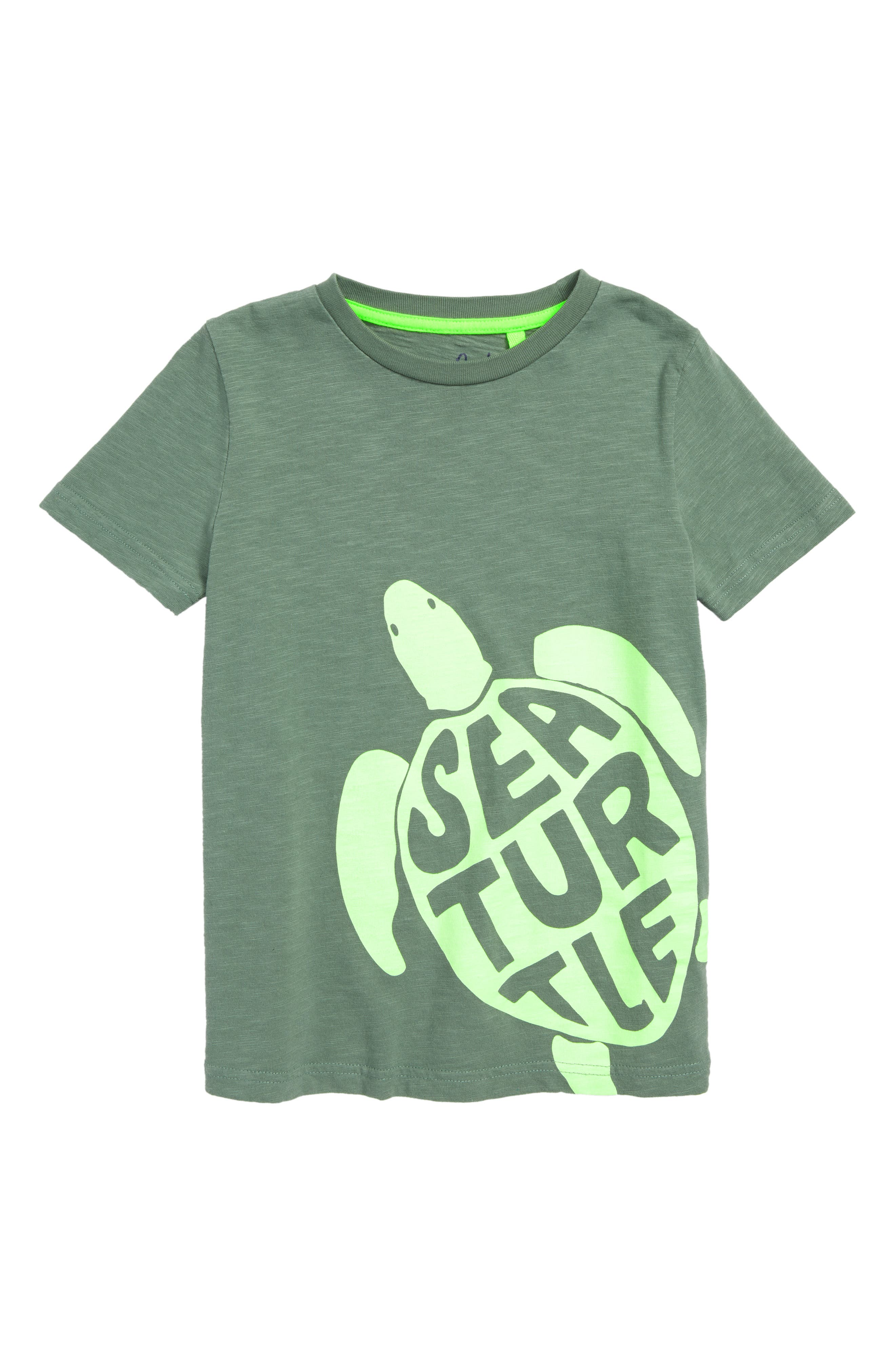 Fluoro Sea Turtle T-Shirt,                             Main thumbnail 1, color,                             334