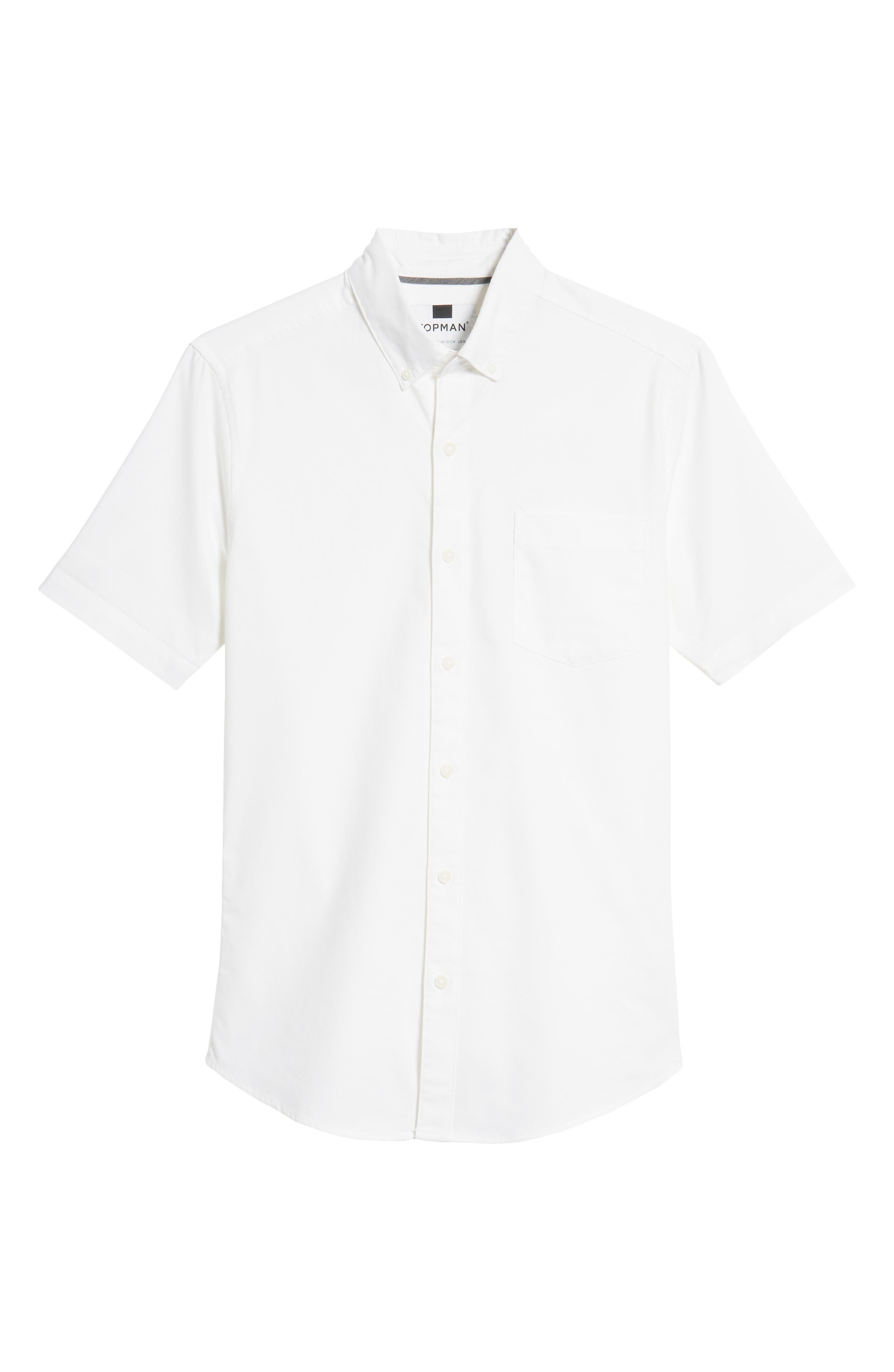 Muscle Fit Oxford Shirt,                             Alternate thumbnail 5, color,                             100