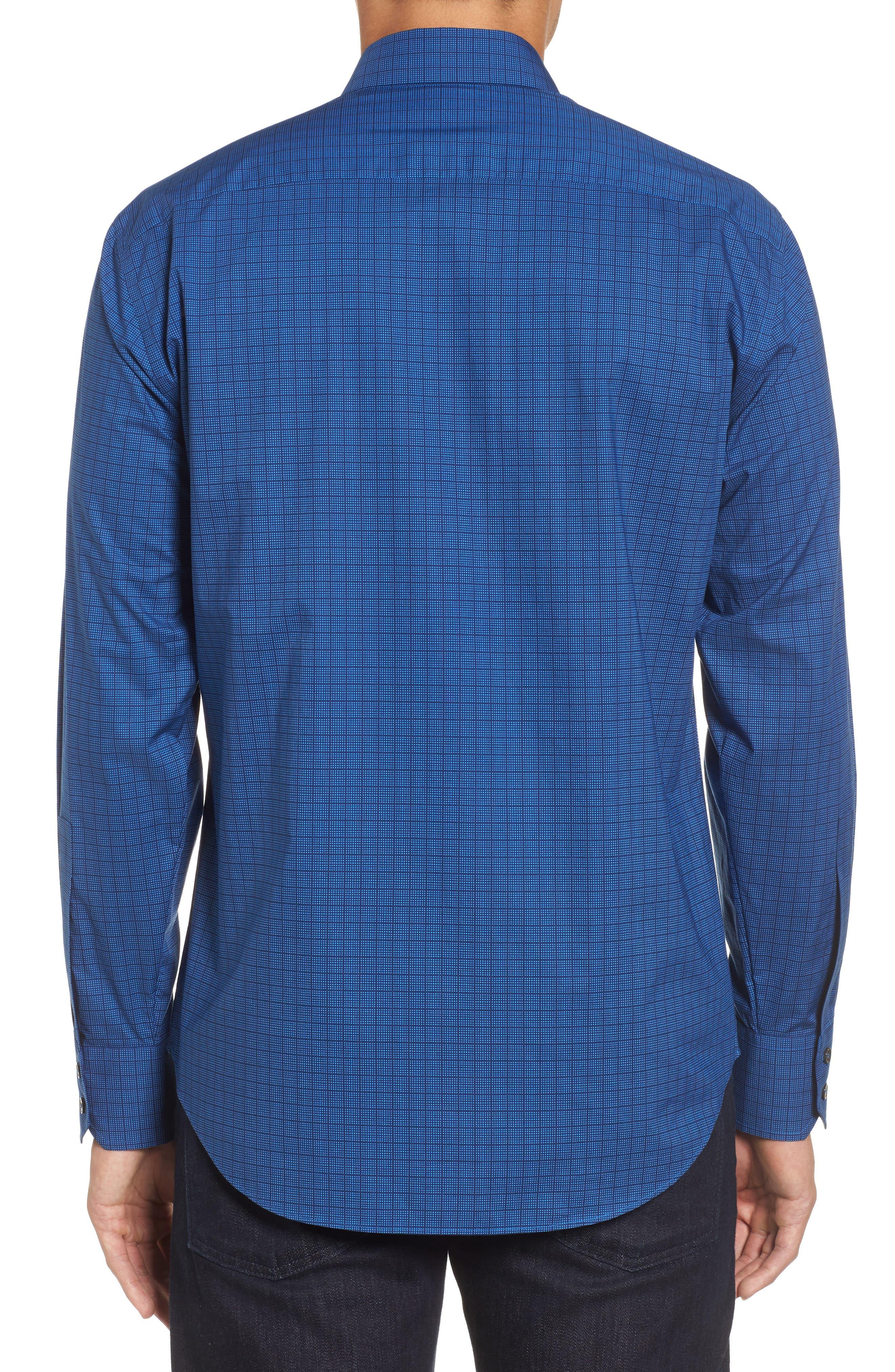 Harper Regular Fit Tile Print Sport Shirt,                             Alternate thumbnail 2, color,                             NAVY
