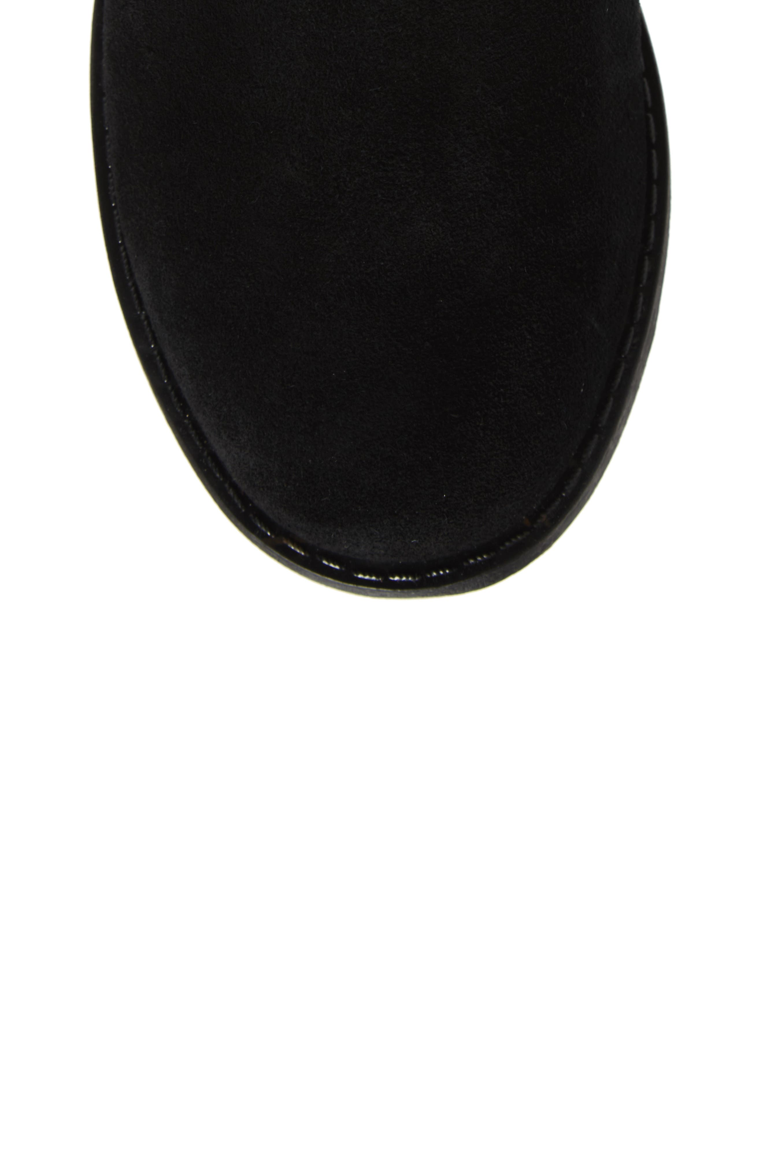 Verona Faux Shearling Boot,                             Alternate thumbnail 5, color,                             BLACK/ BLACK SUEDE