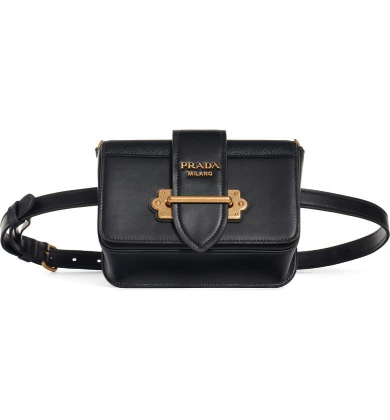 Prada Cahier Leather Belt Bag  744e0b34a6898