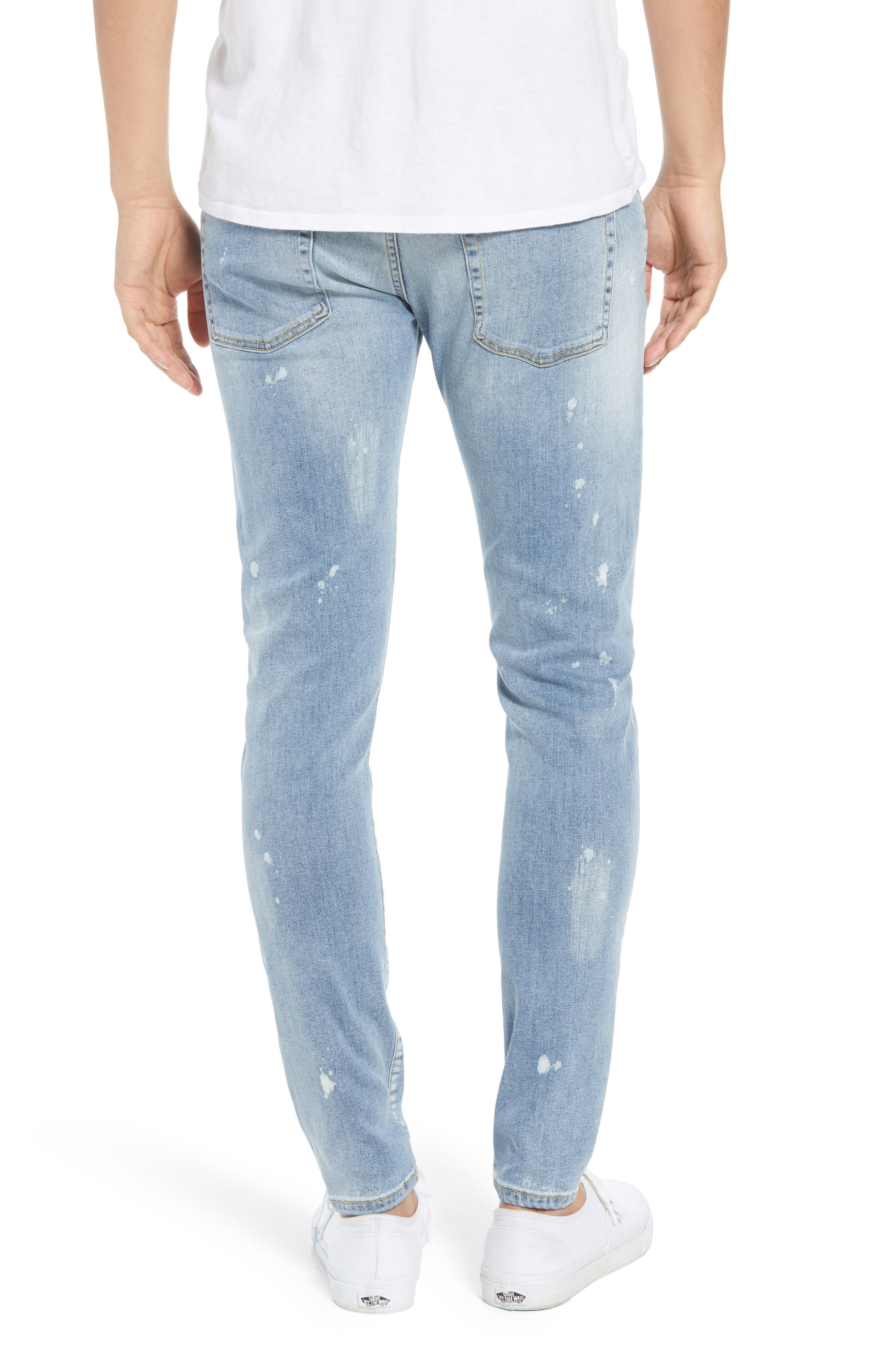 Destroyer Ripped Slim Fit Jeans,                             Alternate thumbnail 2, color,                             BLUE