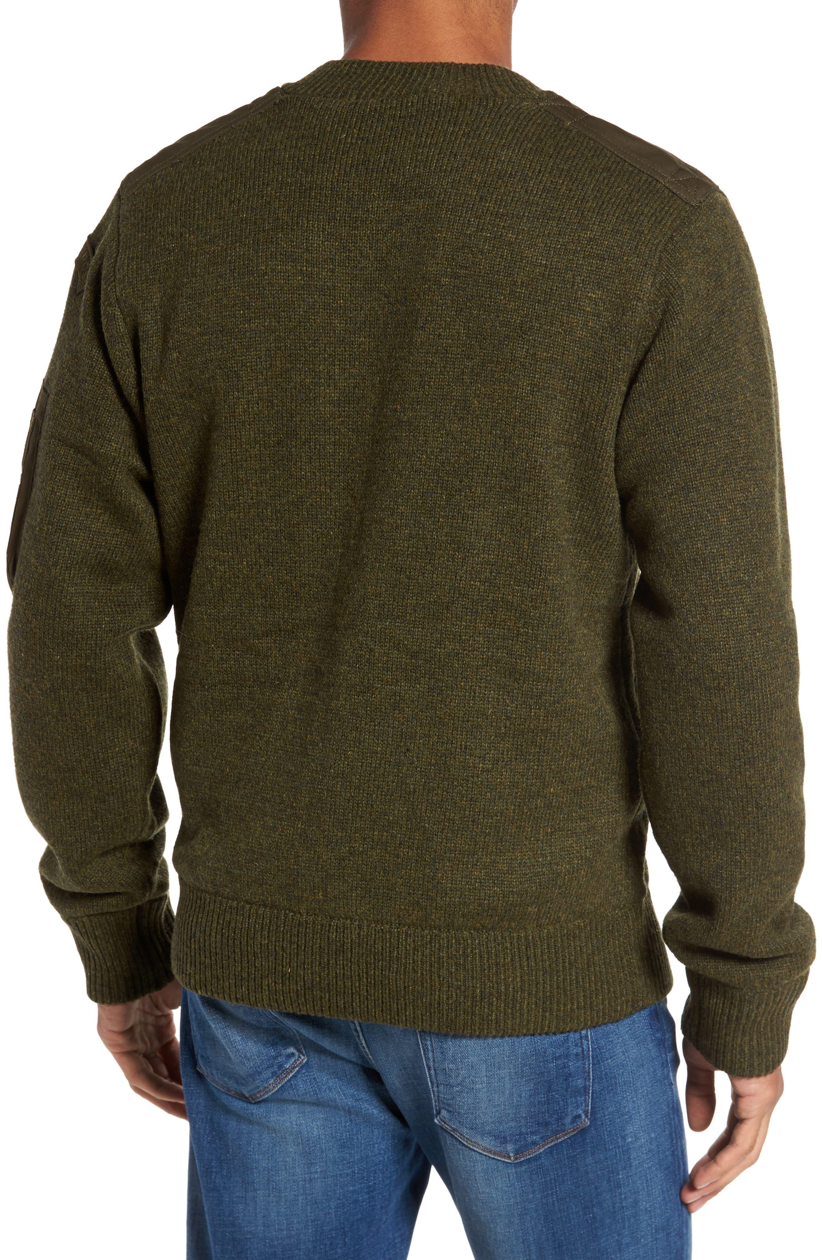 MA-1 Sweater Jacket,                             Alternate thumbnail 2, color,                             MOSS GREEN