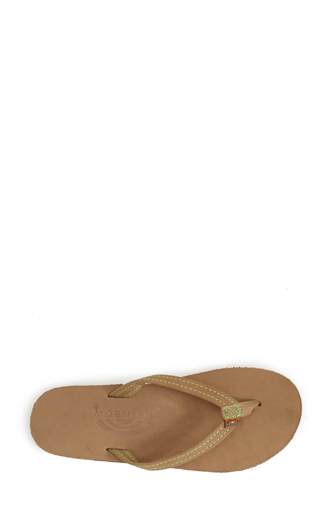 Rainbow Double Layer Thong Sandal,                             Alternate thumbnail 2, color,                             320