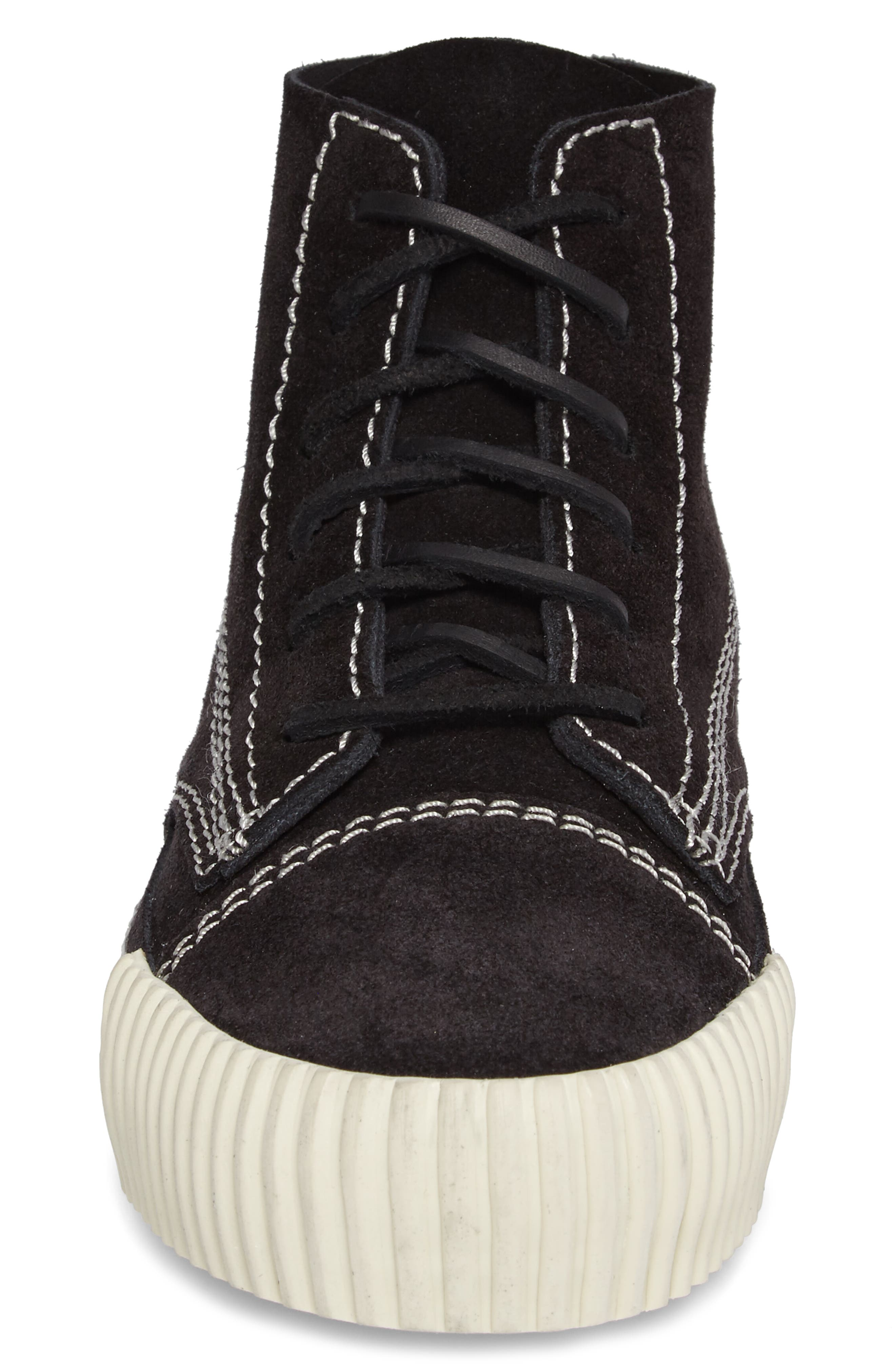 'Perry' Suede High Top Sneaker,                             Alternate thumbnail 4, color,                             001
