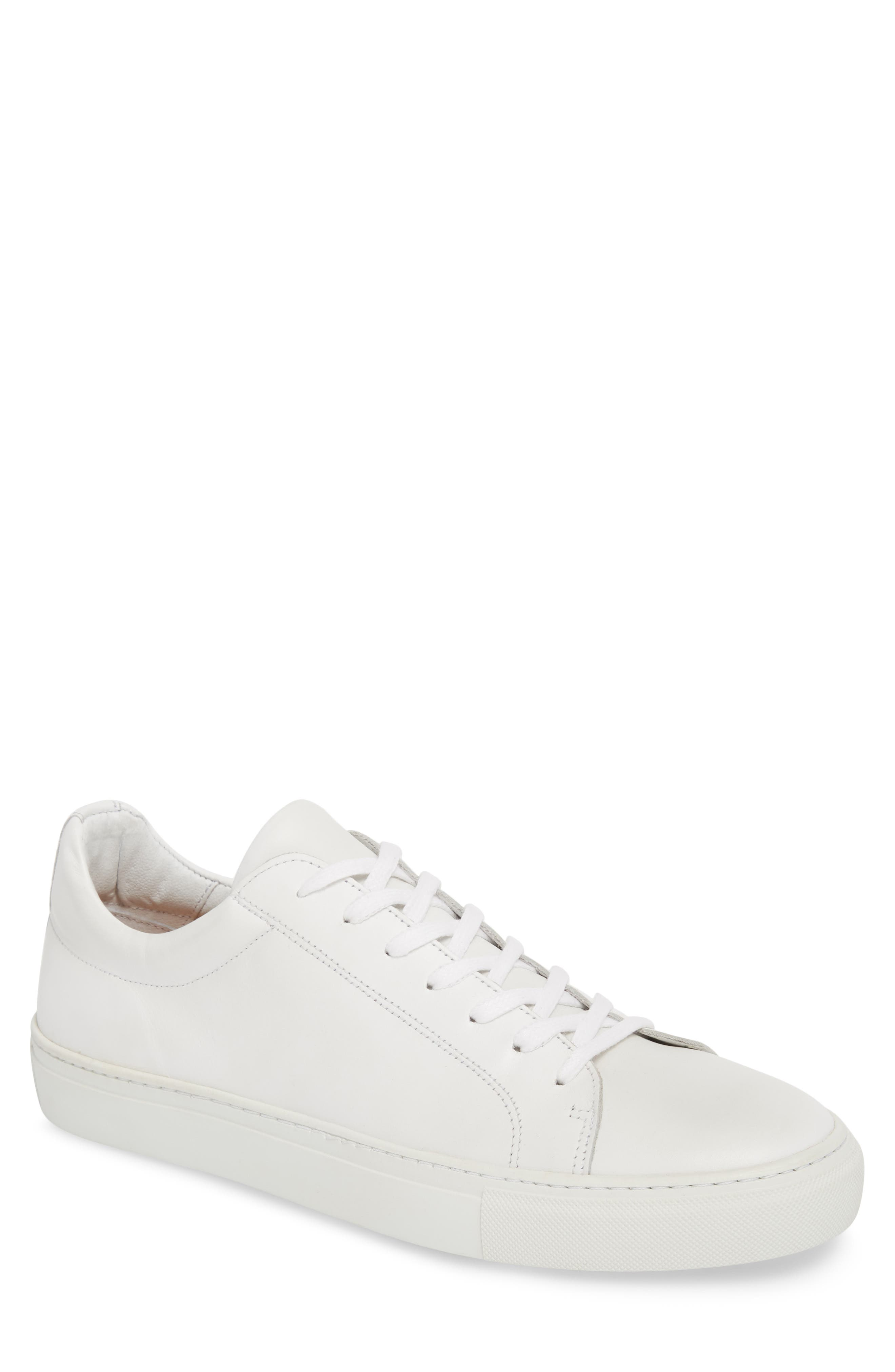 SUPPLY LAB Men'S Damian Leather Sneakers in White