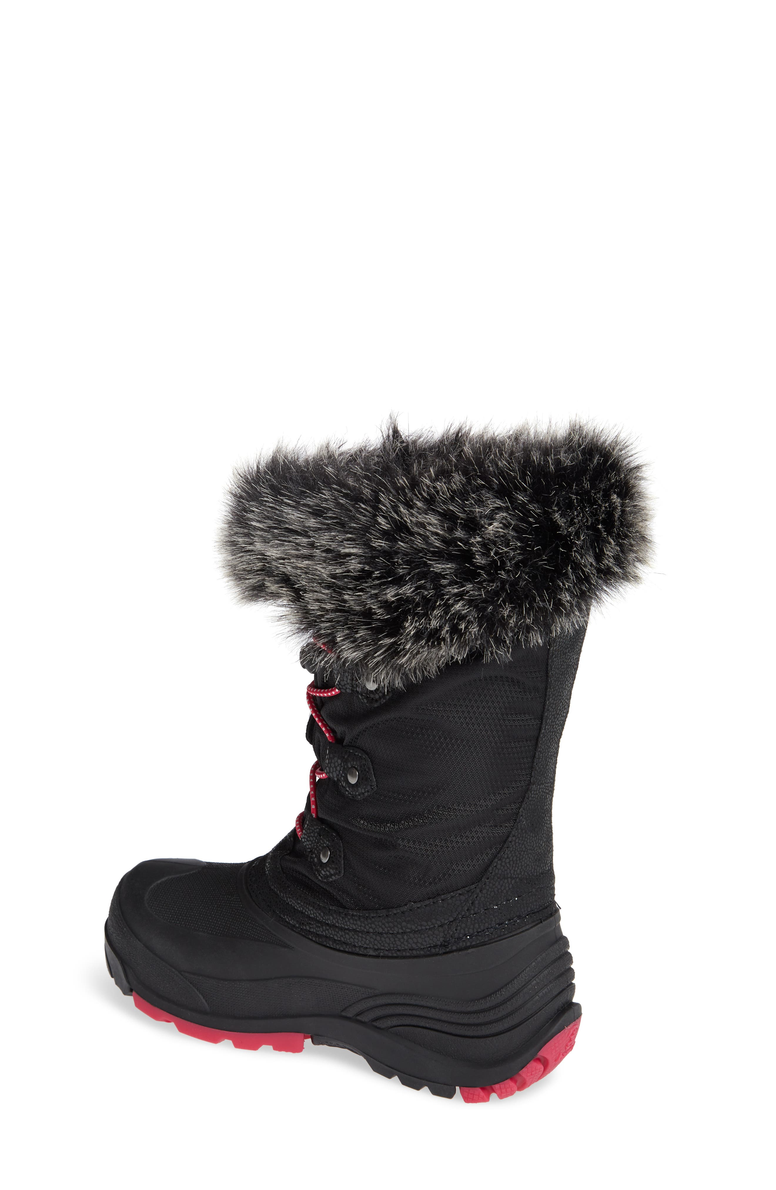 Powdery Waterproof Insulated Snow Boot,                             Alternate thumbnail 2, color,                             010