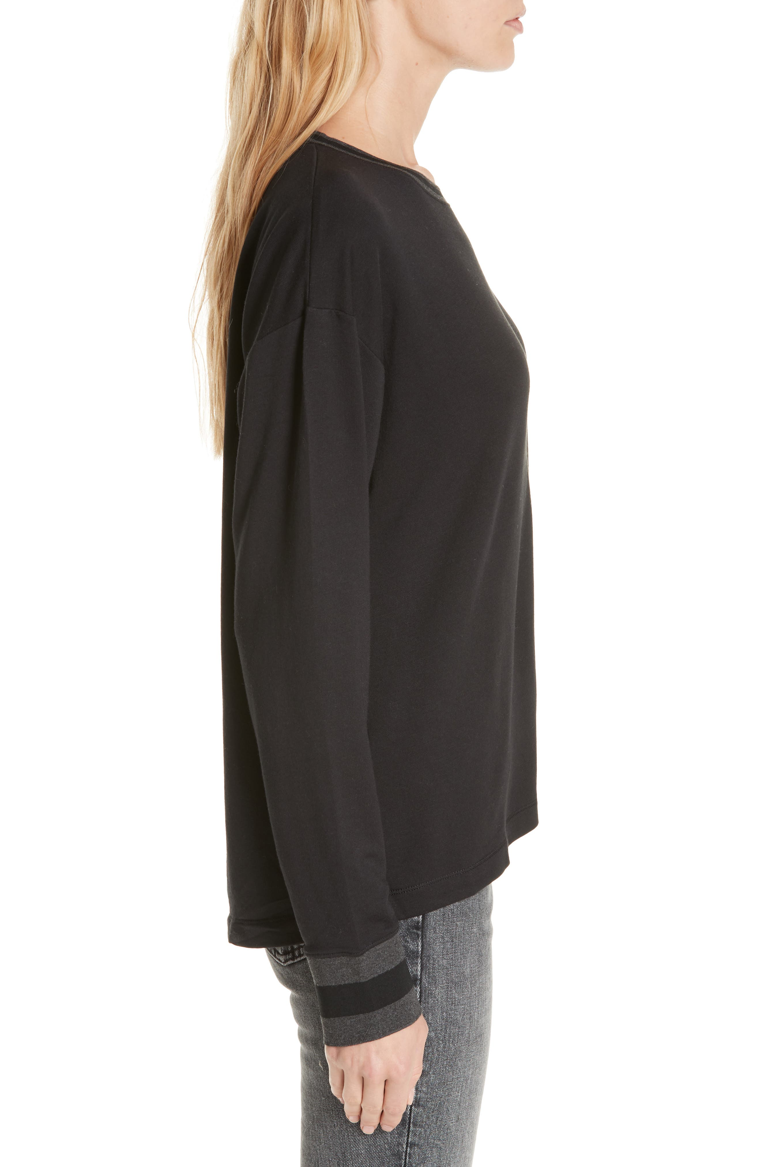 Reily Split Back Top,                             Alternate thumbnail 3, color,                             BLACK