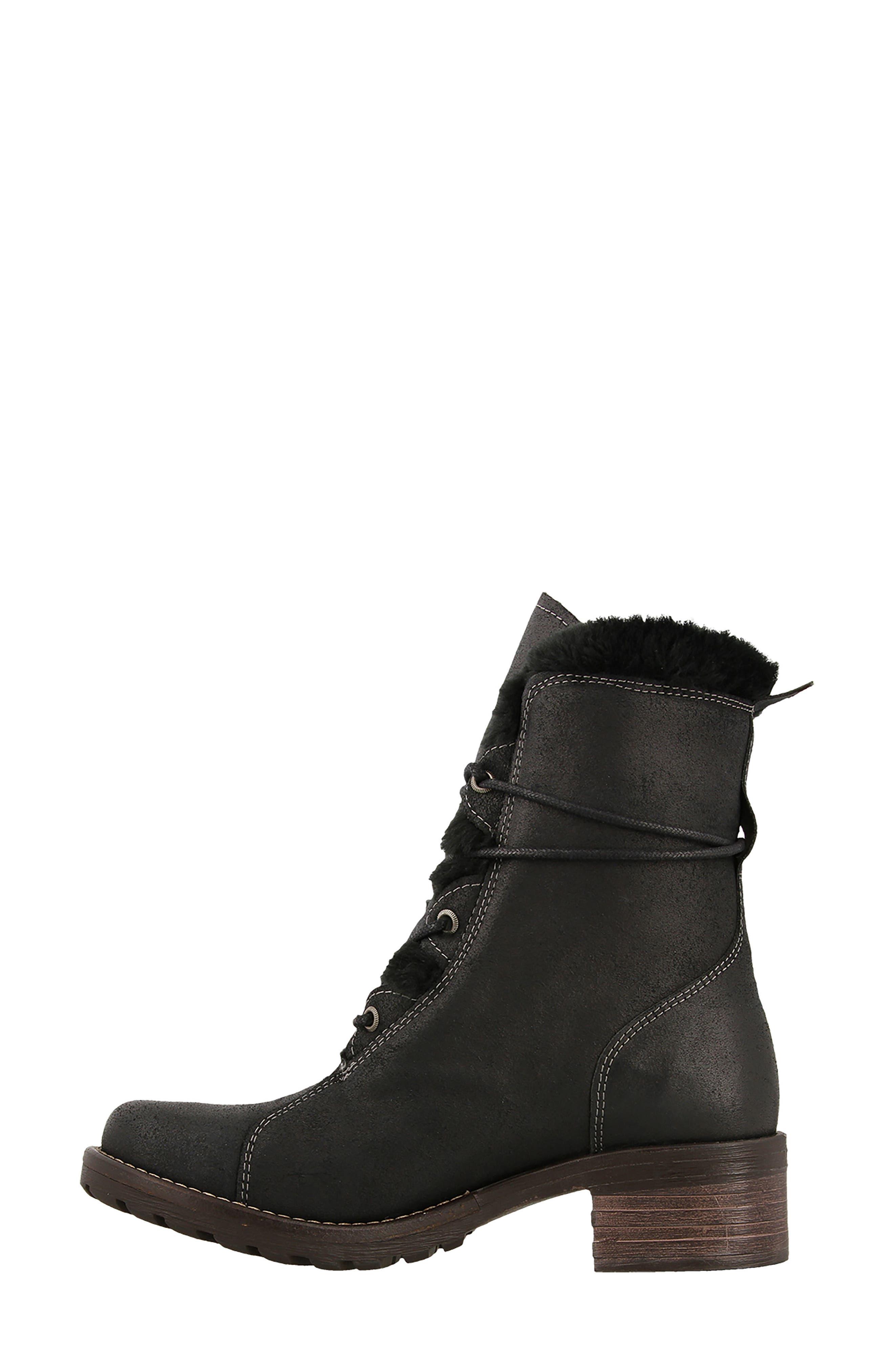Furkle Boot with Faux Fur Trim,                             Alternate thumbnail 3, color,                             002