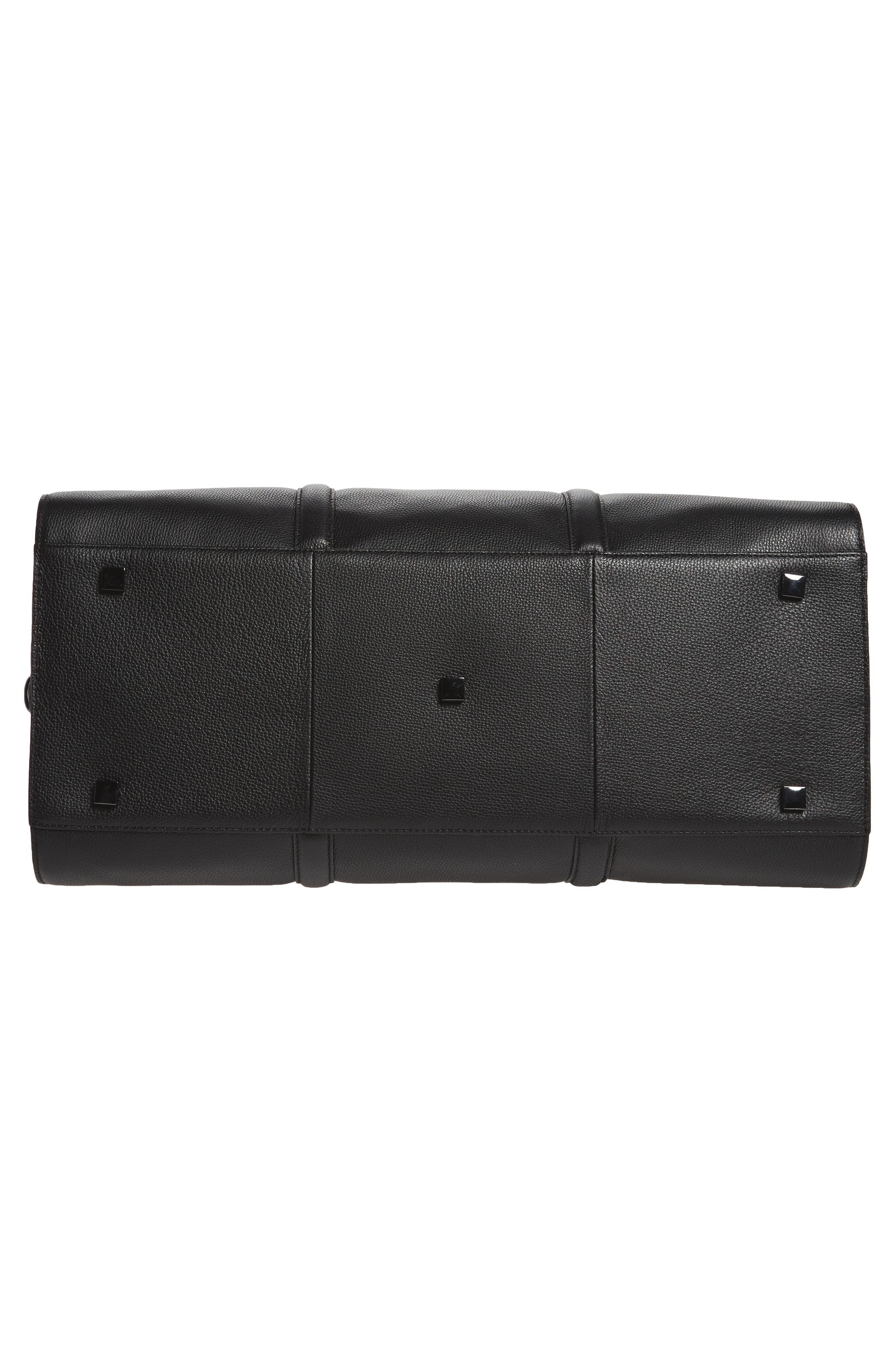 Leather Duffel Bag,                             Alternate thumbnail 6, color,                             001